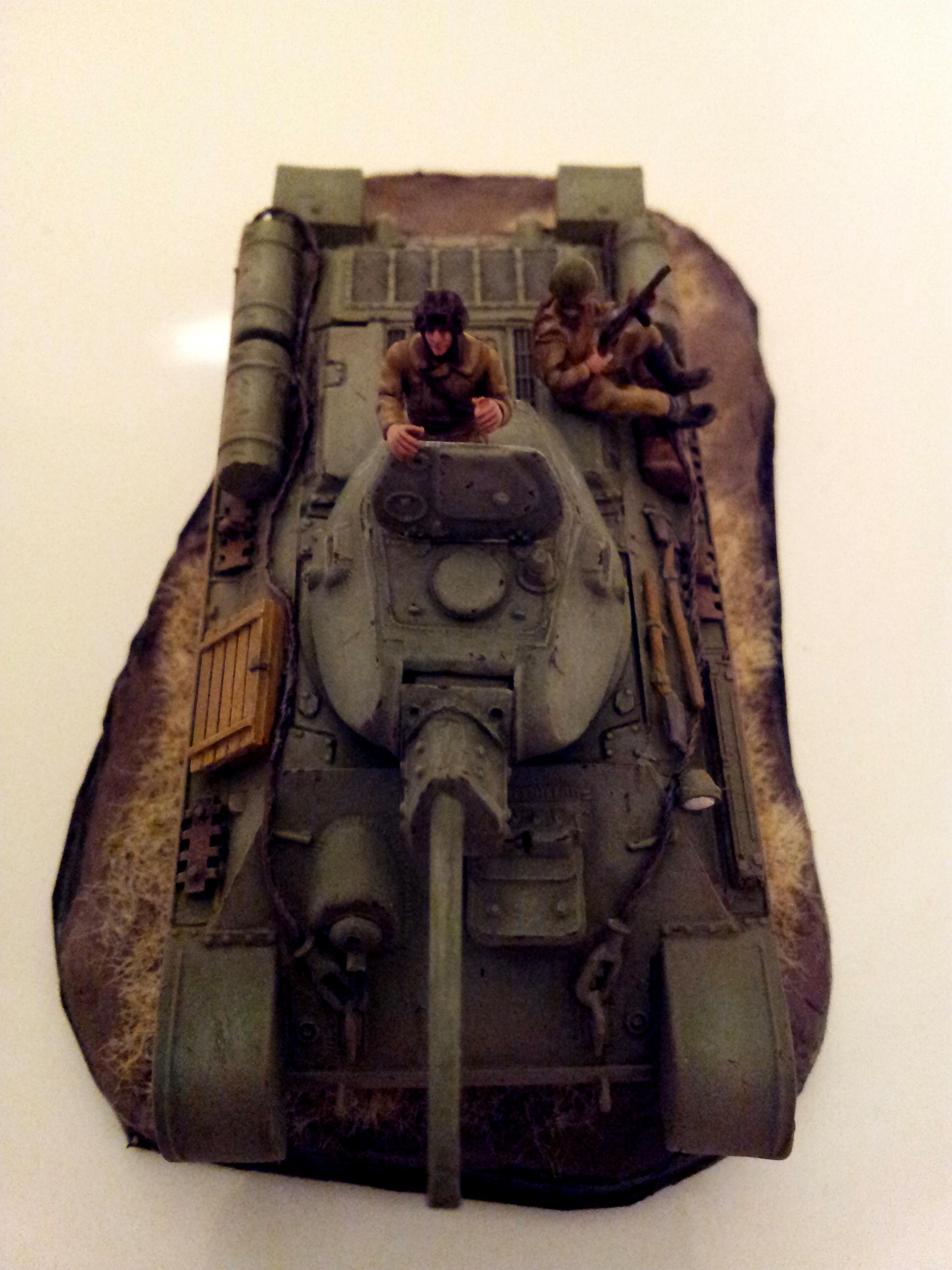 1/72, Braille, Russians, T-34, Tank, World War 2