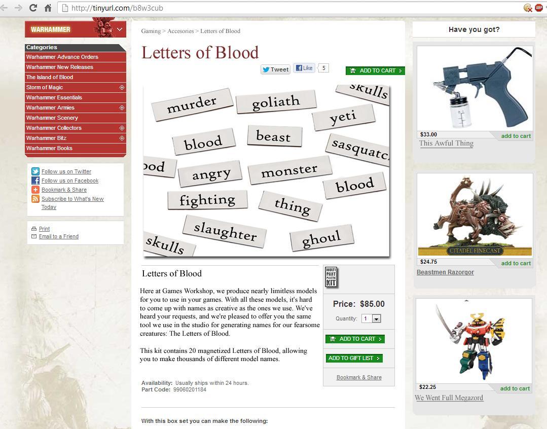 Humor, Letters Of Blood, Refrigerator Poetry, Satire, Warhammer 40,000, Warhammer Fantasy