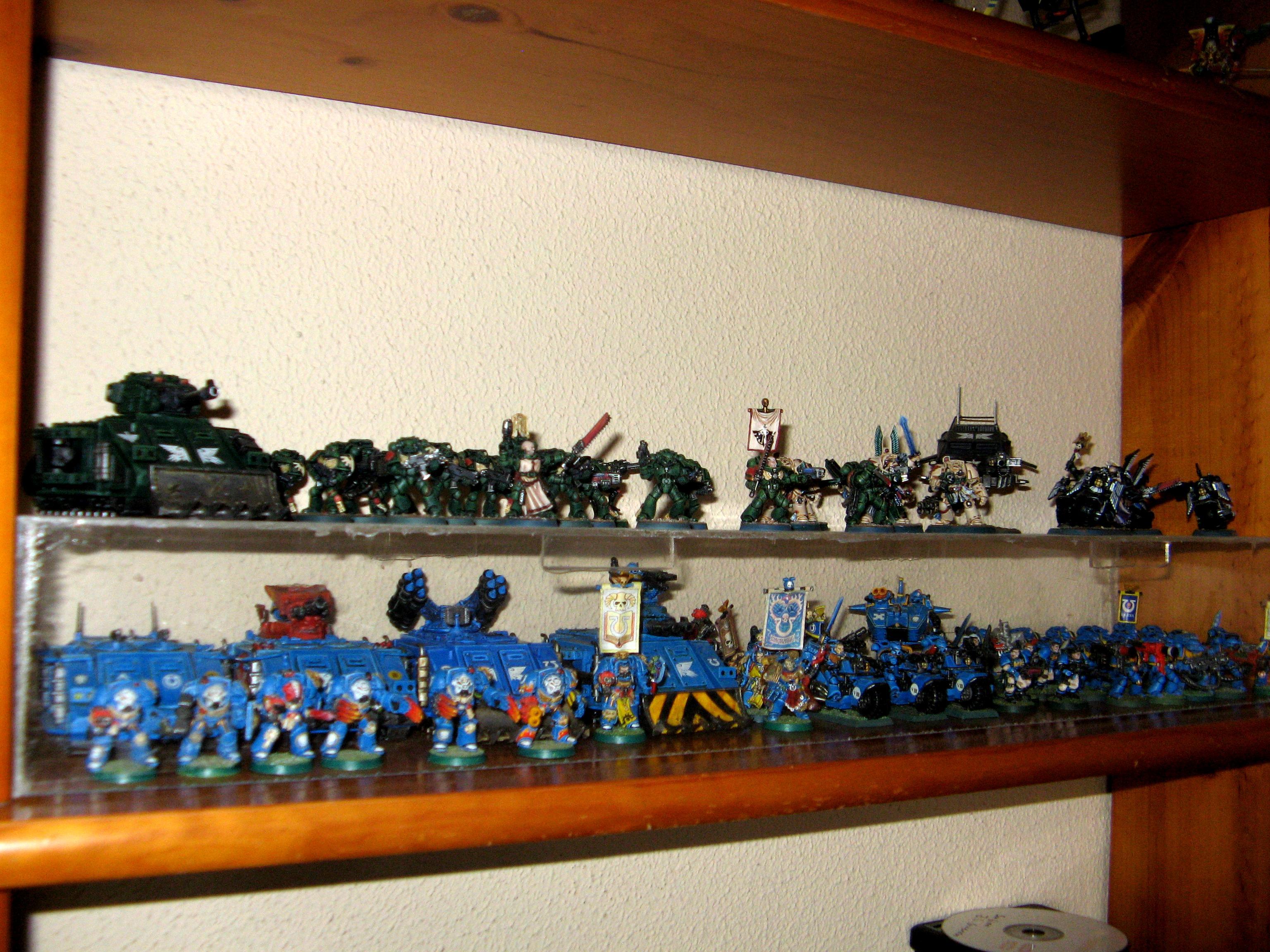 Dark Angels, Display, Space Marines, Ultramarines