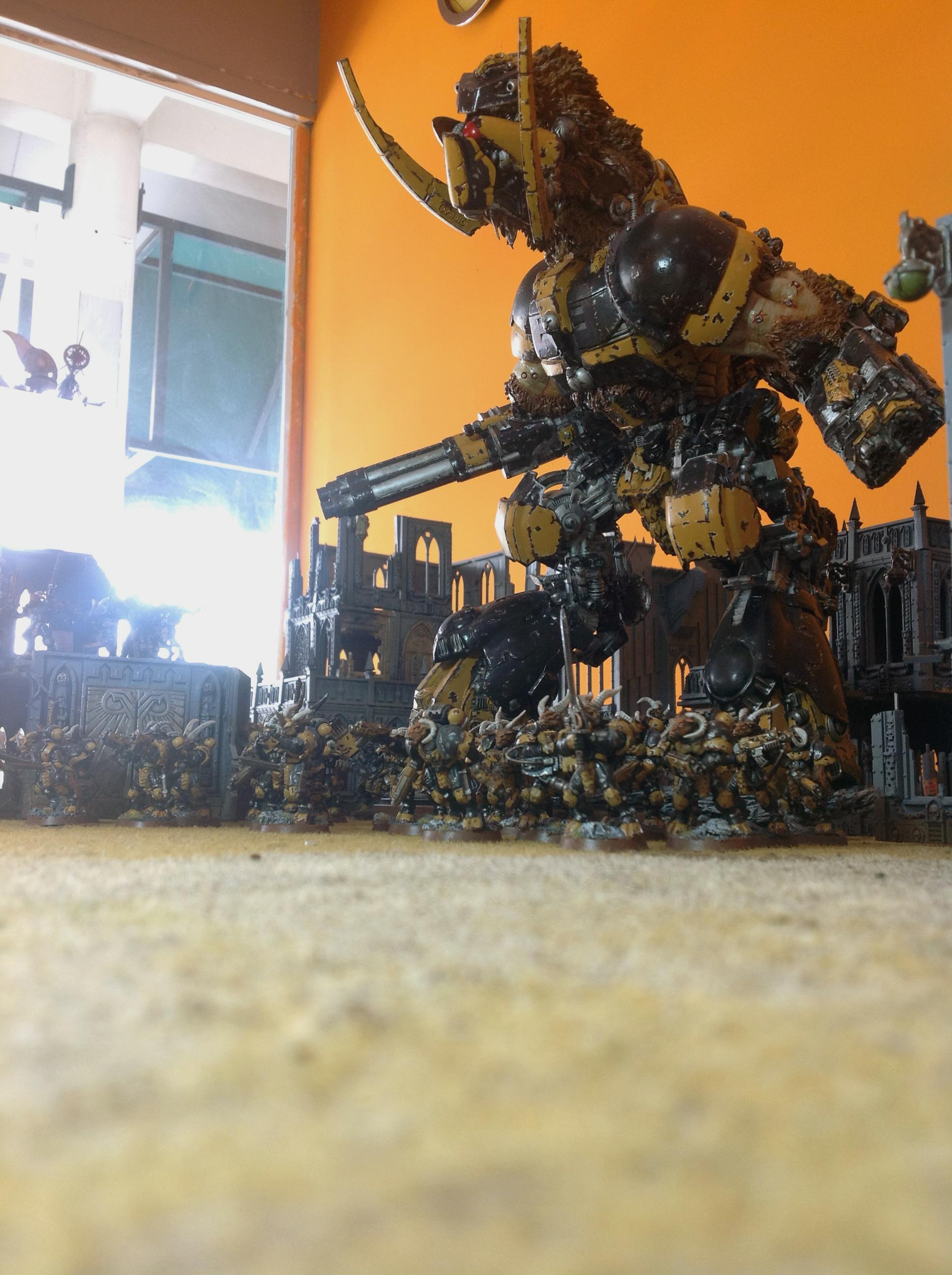 Beast, Beastmen, Cygor, Mercenary, Metal, Pattern, Space, Space Marines, Titan, Warhammer 40,000, Warhound, Wolves