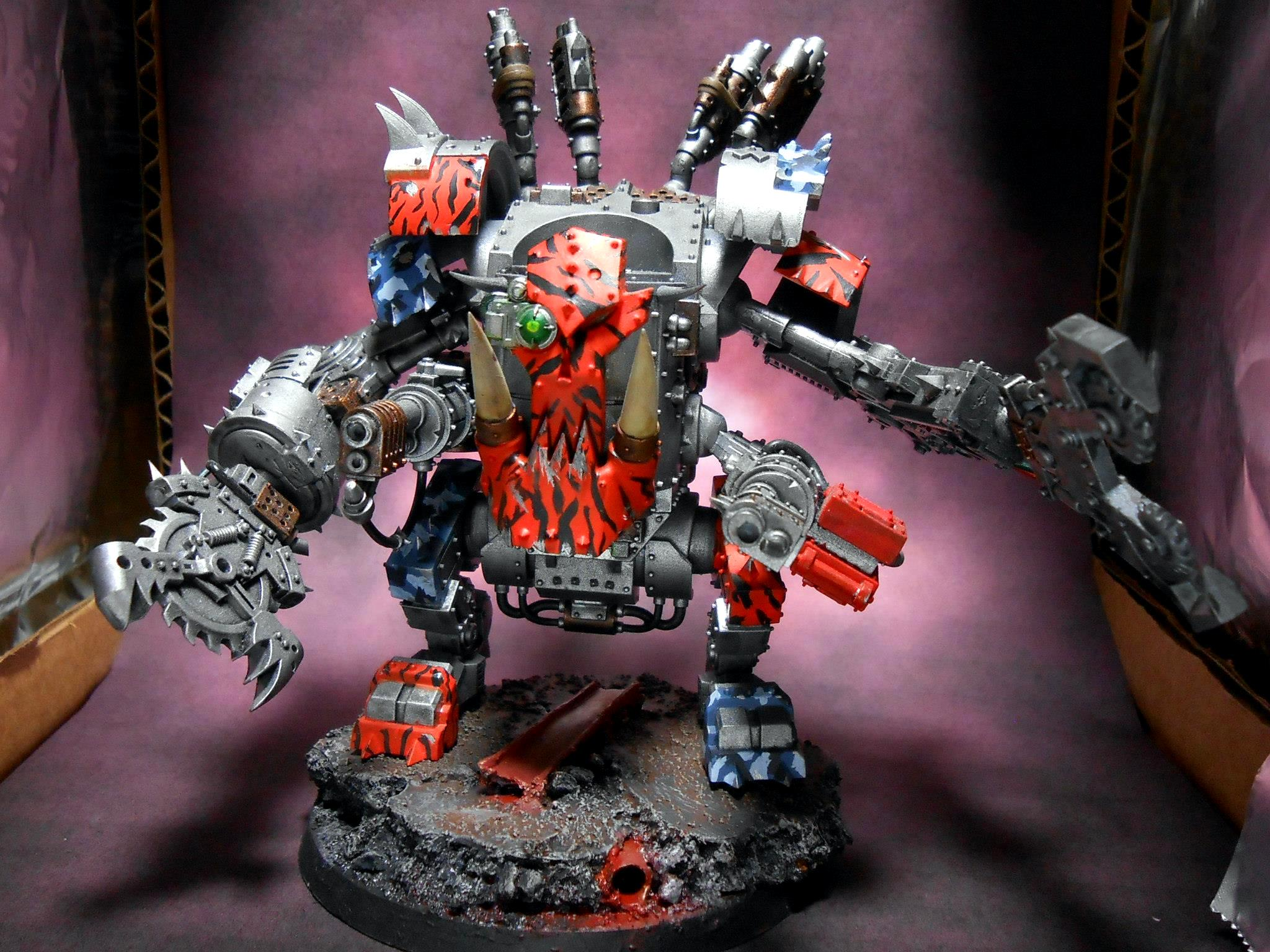 Blood Axe, Camouflage, Choppy, Death Dread, Deff Dread, Dreadnought, Orcs, Orks, Orky