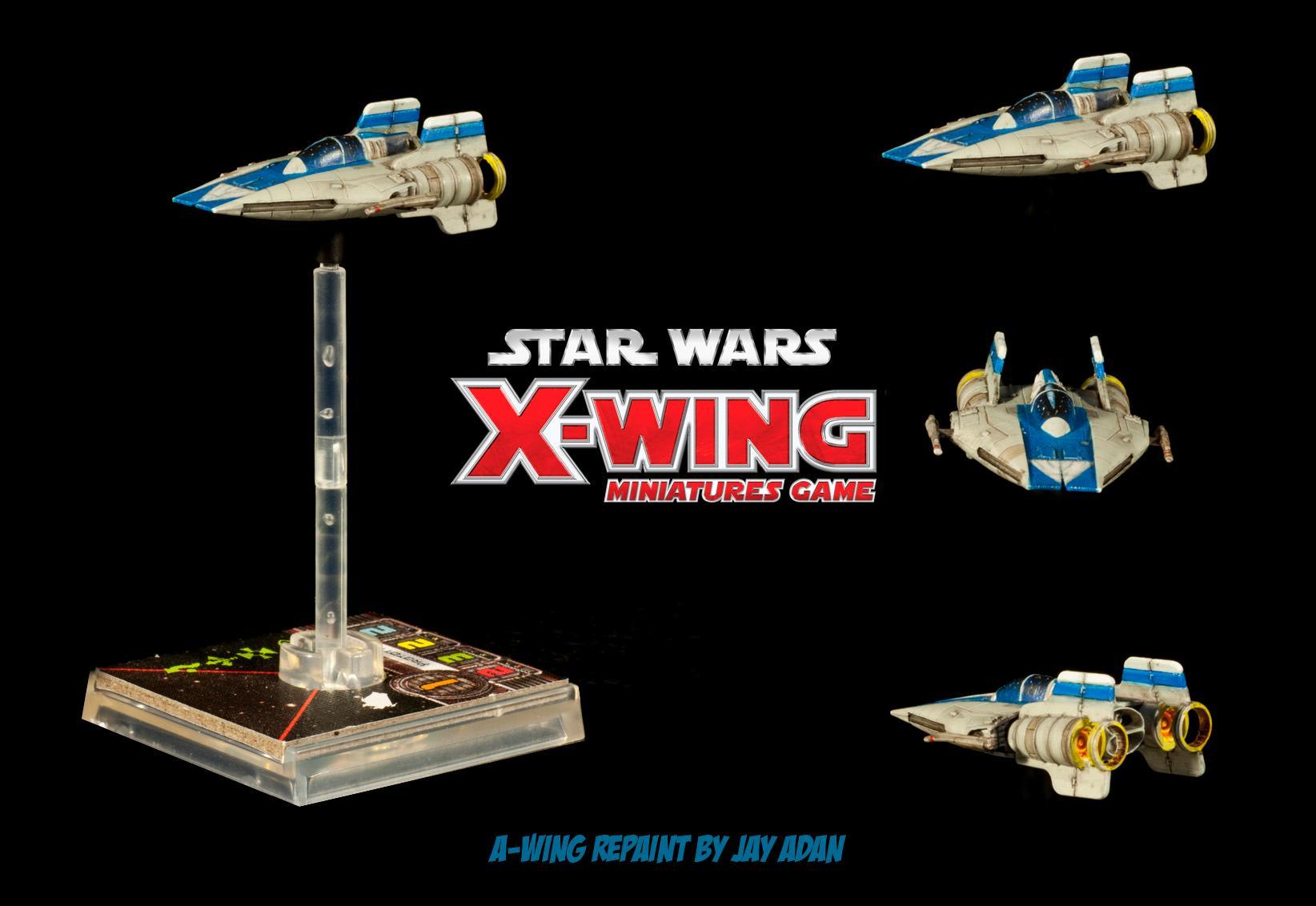 A-wing, Repaint, Star Wars, X-Wing