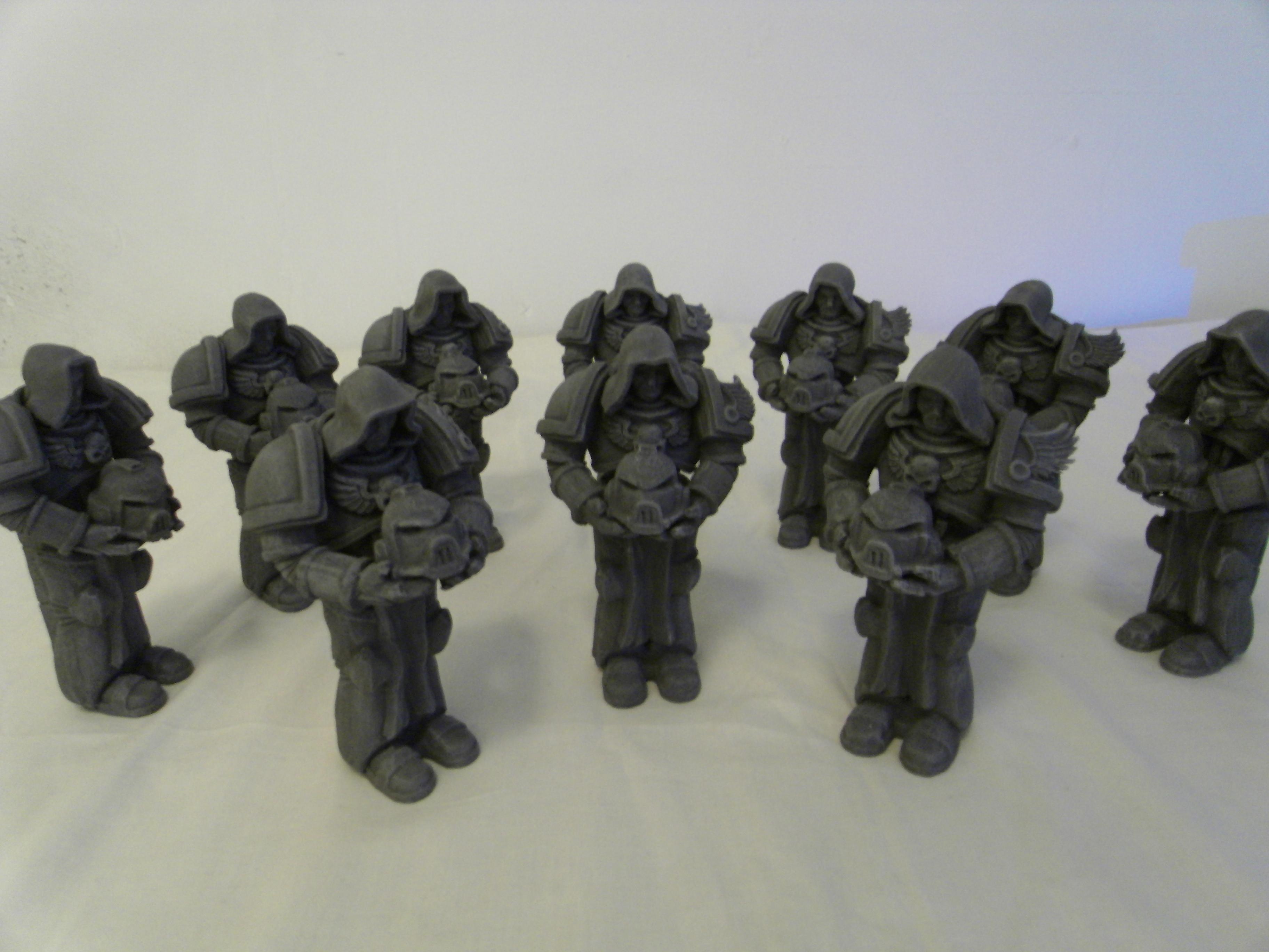 Dark Angels, Hood, Sculpting, Space Marines, Statue