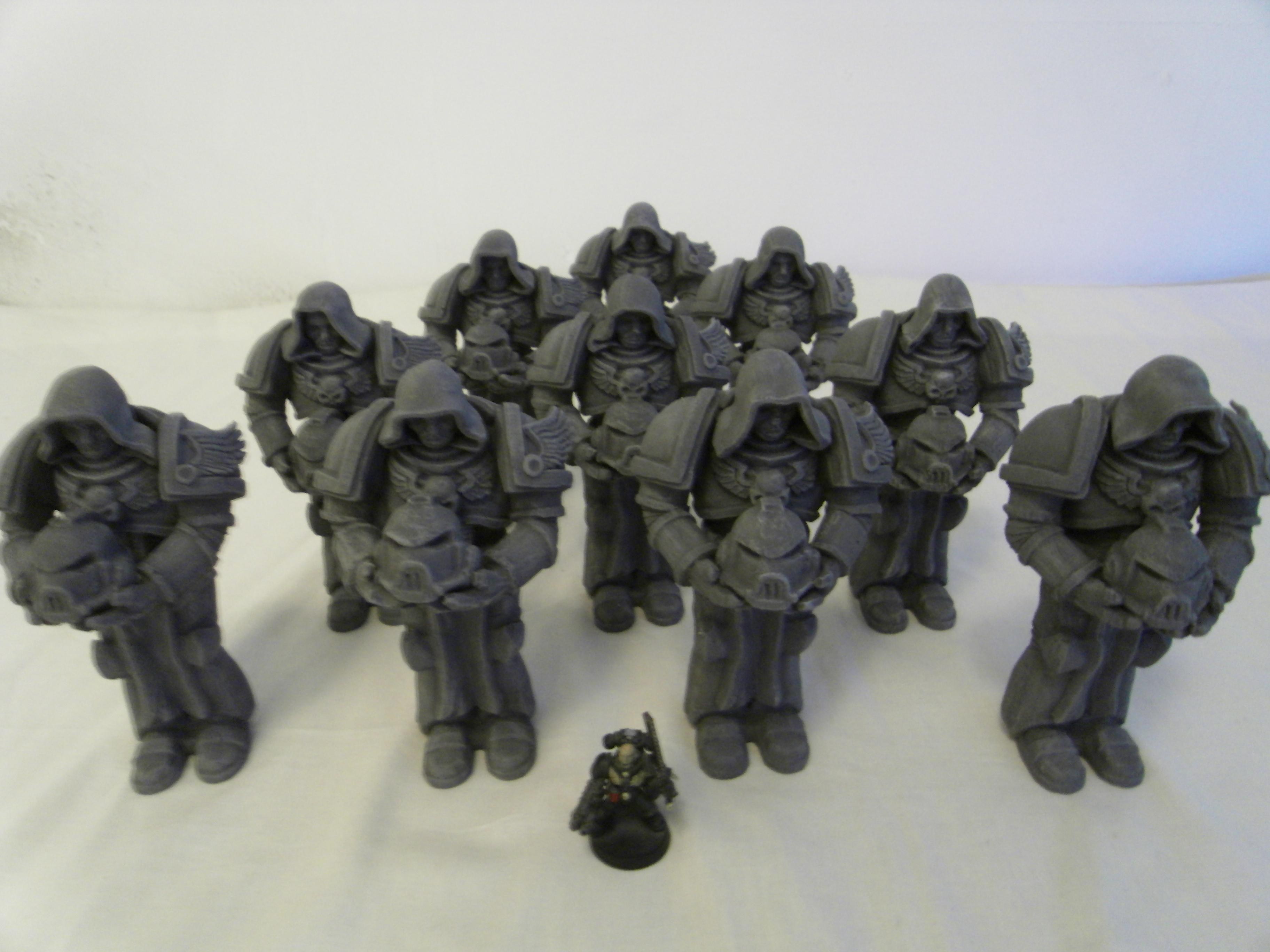 Dark Angels, Hood, Space Marines, Statue