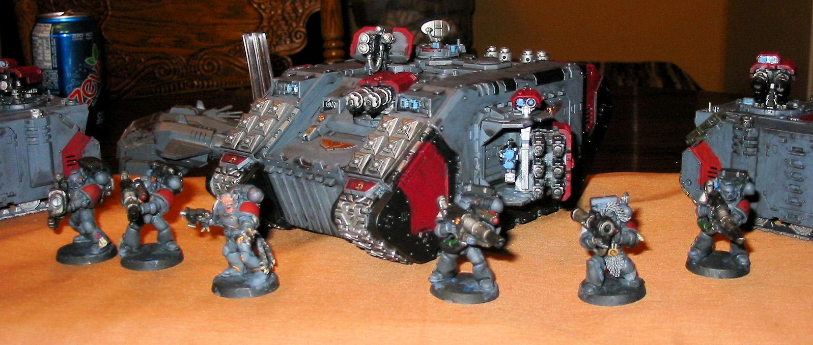 Land Raider, Long Fangs, Space Wolves