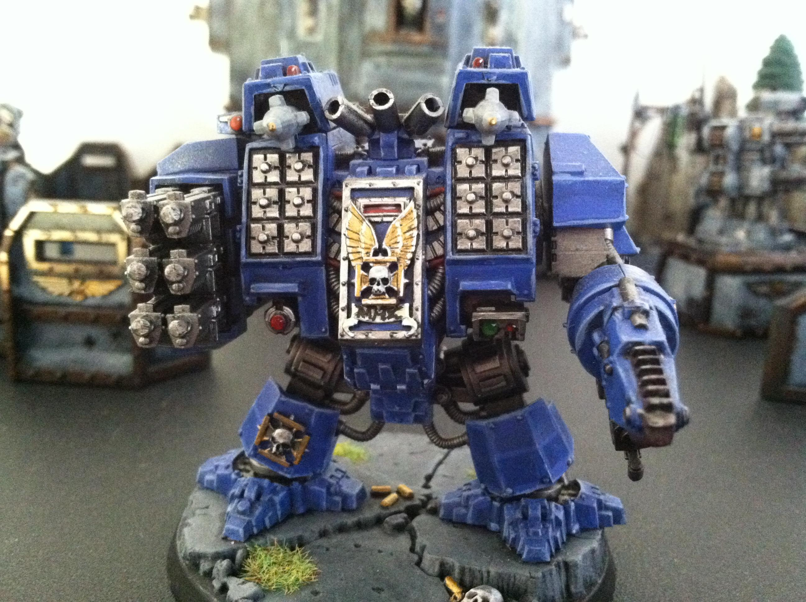 Dreadnought, Ironclad, Space Marines, Ultramarines, Warhammer 40,000