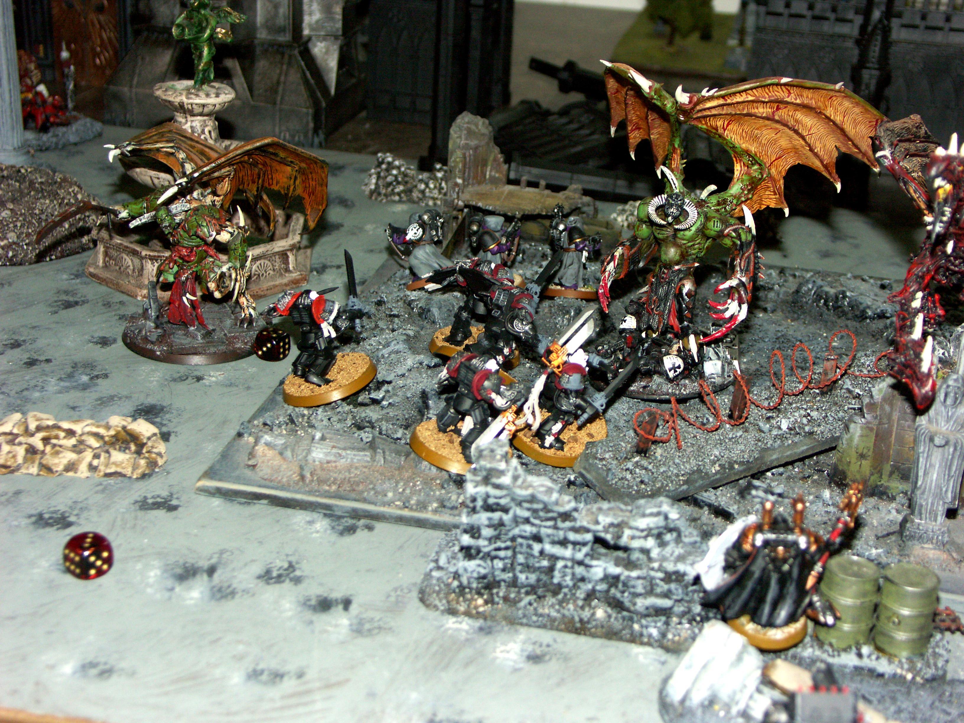 Battle, Battle Report, Campaign, Chaos, Nurgle, Orks, Report, Space Marines, Templar, Terrain, Titan, Warhound