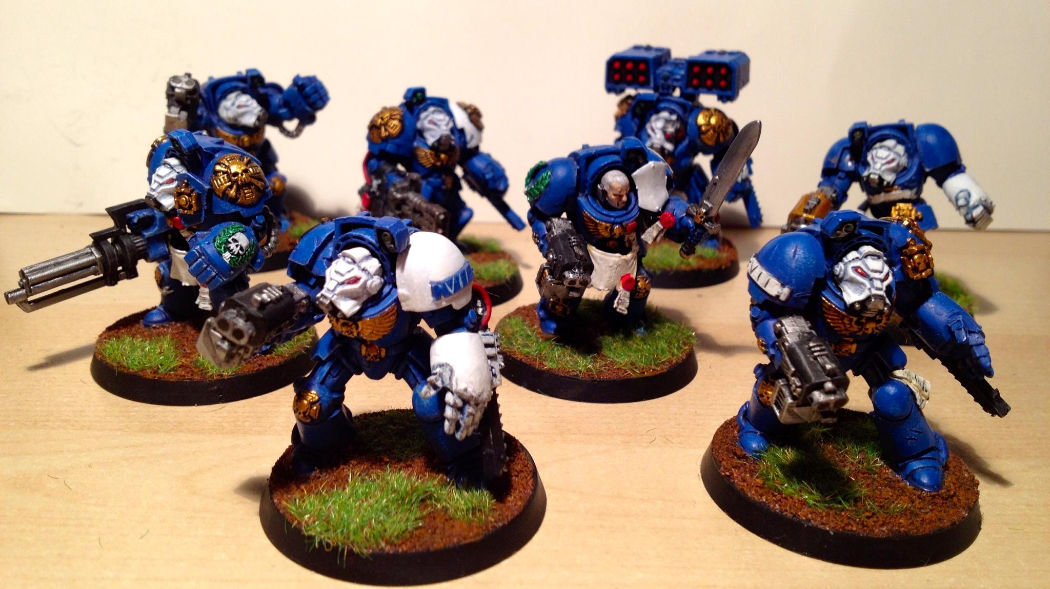 Assault Cannon, Chainfist, Cyclone Missile Launcher, Power Fist, Terminator Armor, Ultramarines