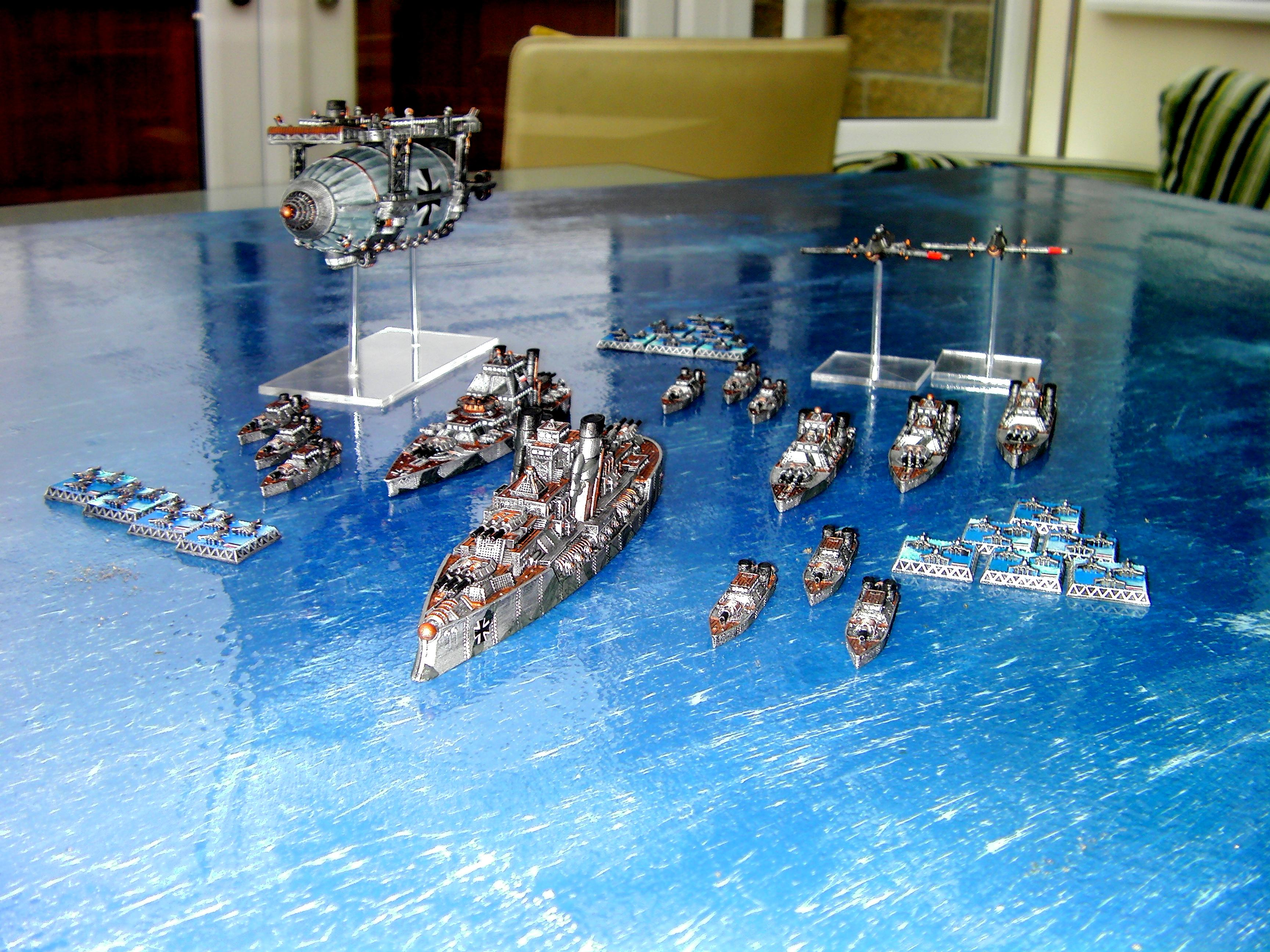Dystopia, Dystopian, Dystopian Wars, Dystopian-wars, Fleet, Fleets, German Fleet, Germans, Kingdom Of Prussian, Prussian, Prussian Fleet, Sailing, Ships, Spartan Games, War