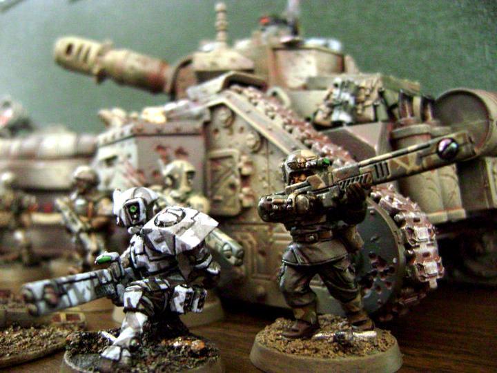 Fire Warriors, Imperial Guard, Leman Russ, Tau