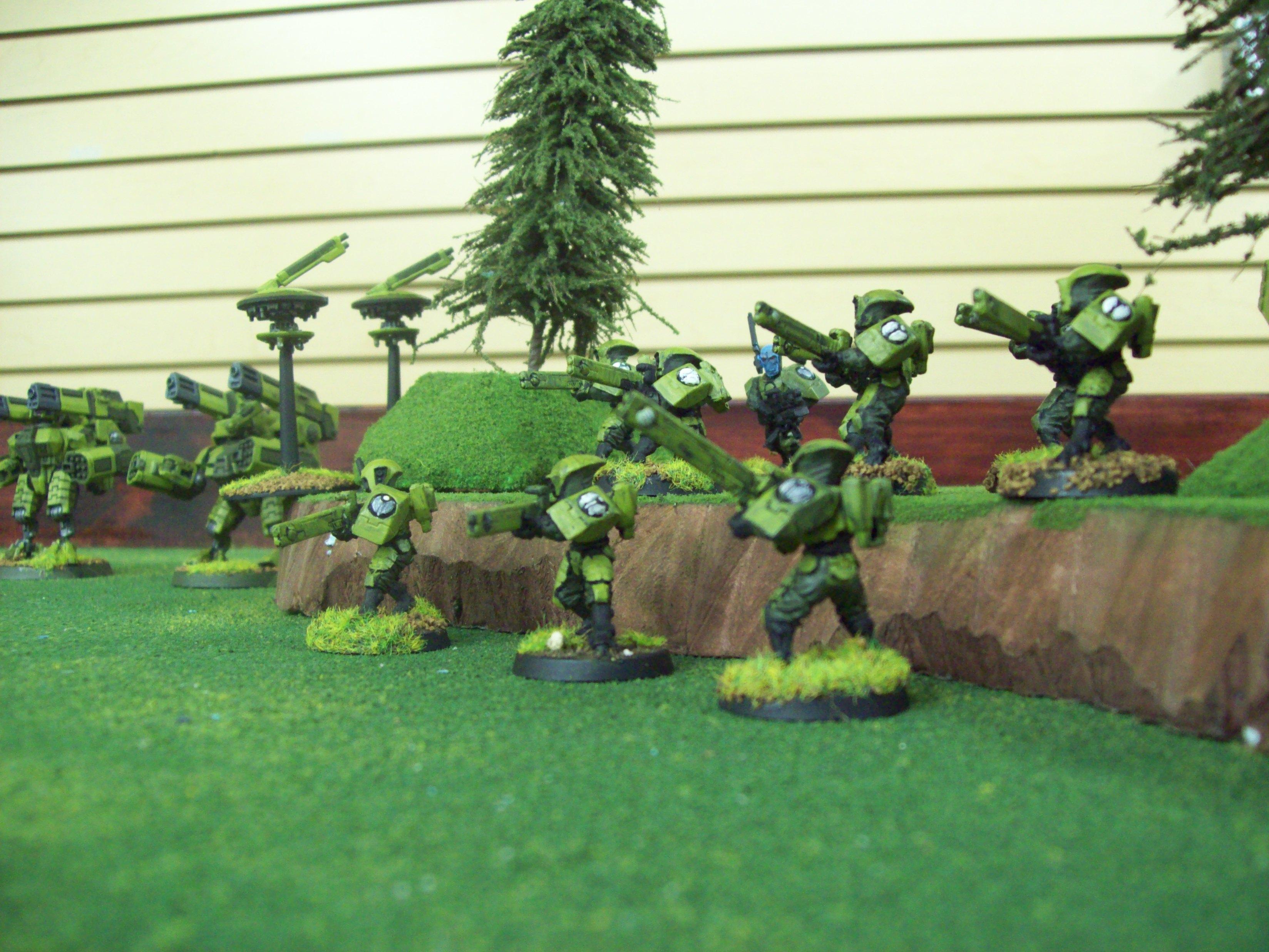 Broadsides, Fire Warriors, Shield Drone, Tau