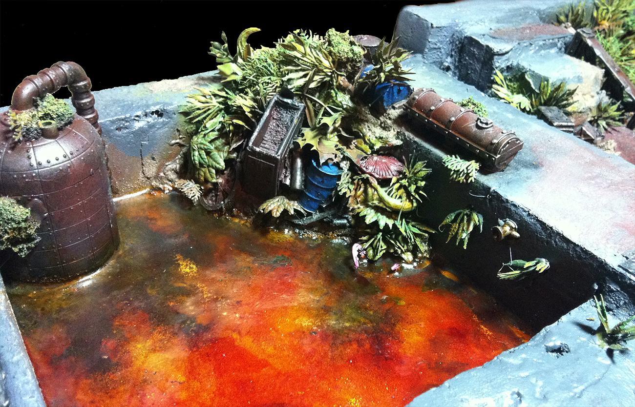 Algae Pit, Necromunda, Shrubbery, Sump, Tentacles, Terrain, Toxic