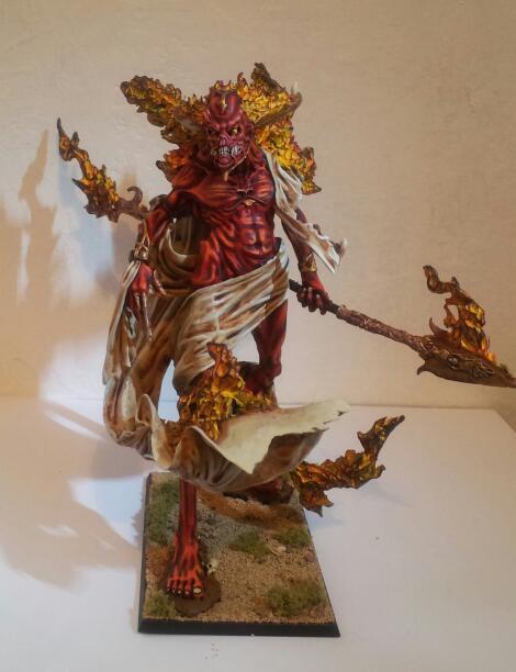 Elemental, Fire, Forge World, Painted, Warhammer Fantasy