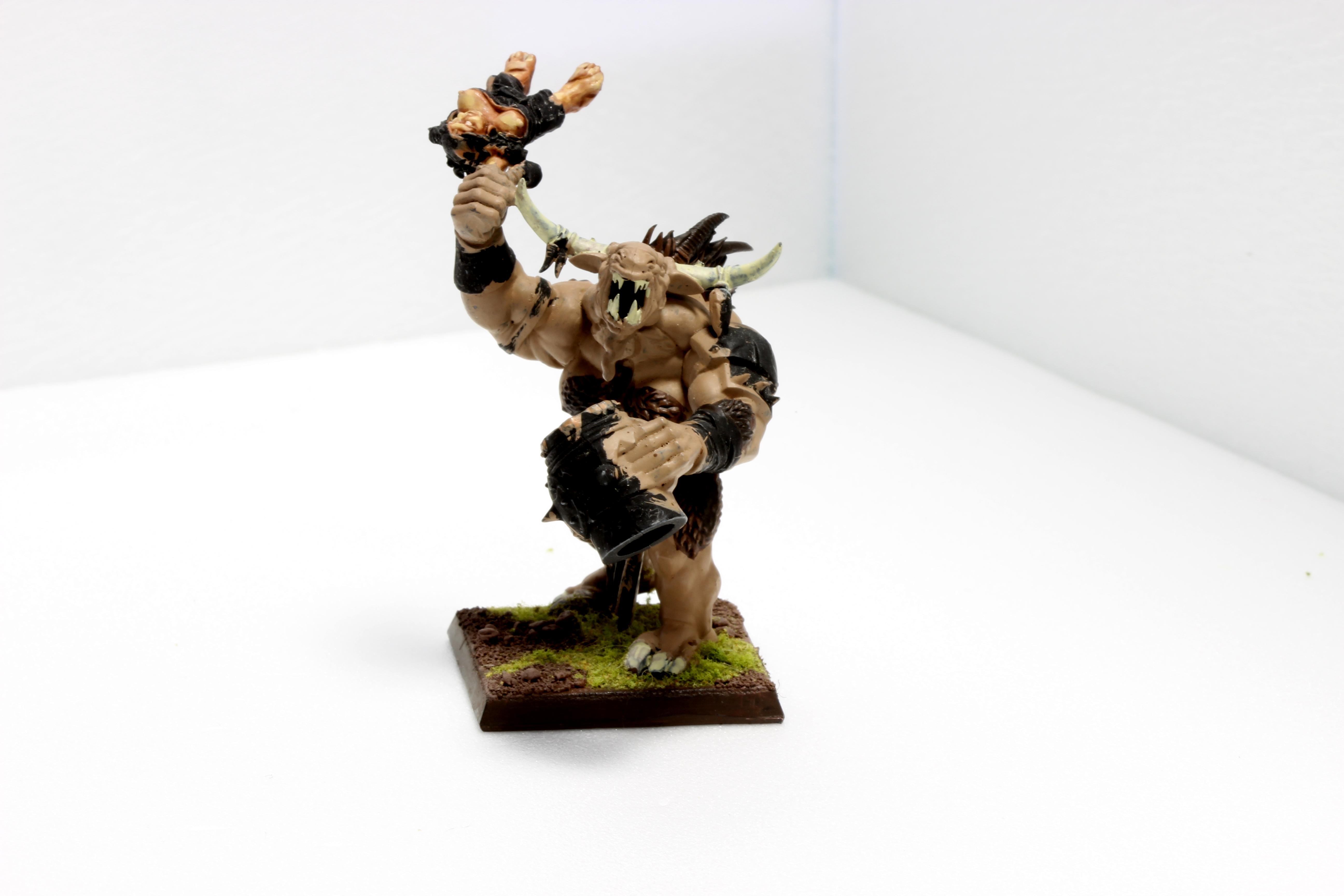 Beastmen, Command Minotaurs, Conversion, Ecatombe, Humor, Minotaur, Musician, Warhammer Fantasy
