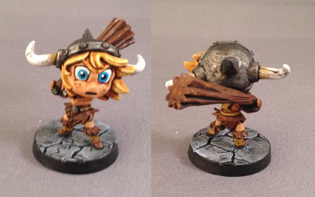 Barbarian, Chibi, Chibi Adventures, Impact! Miniatures, Sd