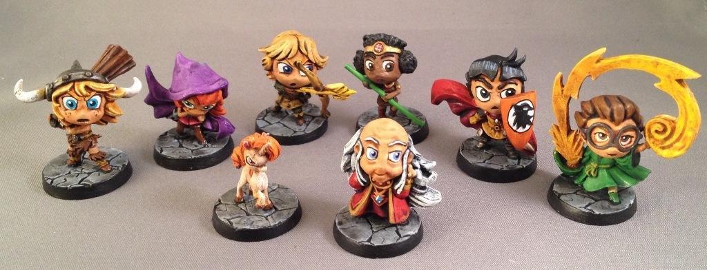 Acrobat, Adventurers, Barbarian, Cavalier, Chibi, Chibi Adventures, Dungeon Master, Impact! Miniatures, Magician, Rangers, Sd, Thief