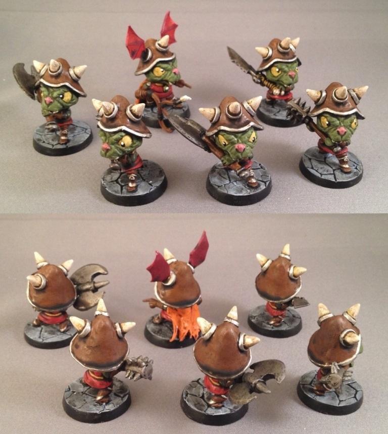 Chibi, Chibi Adventures, Impact! Miniatures, Orcs, Sd