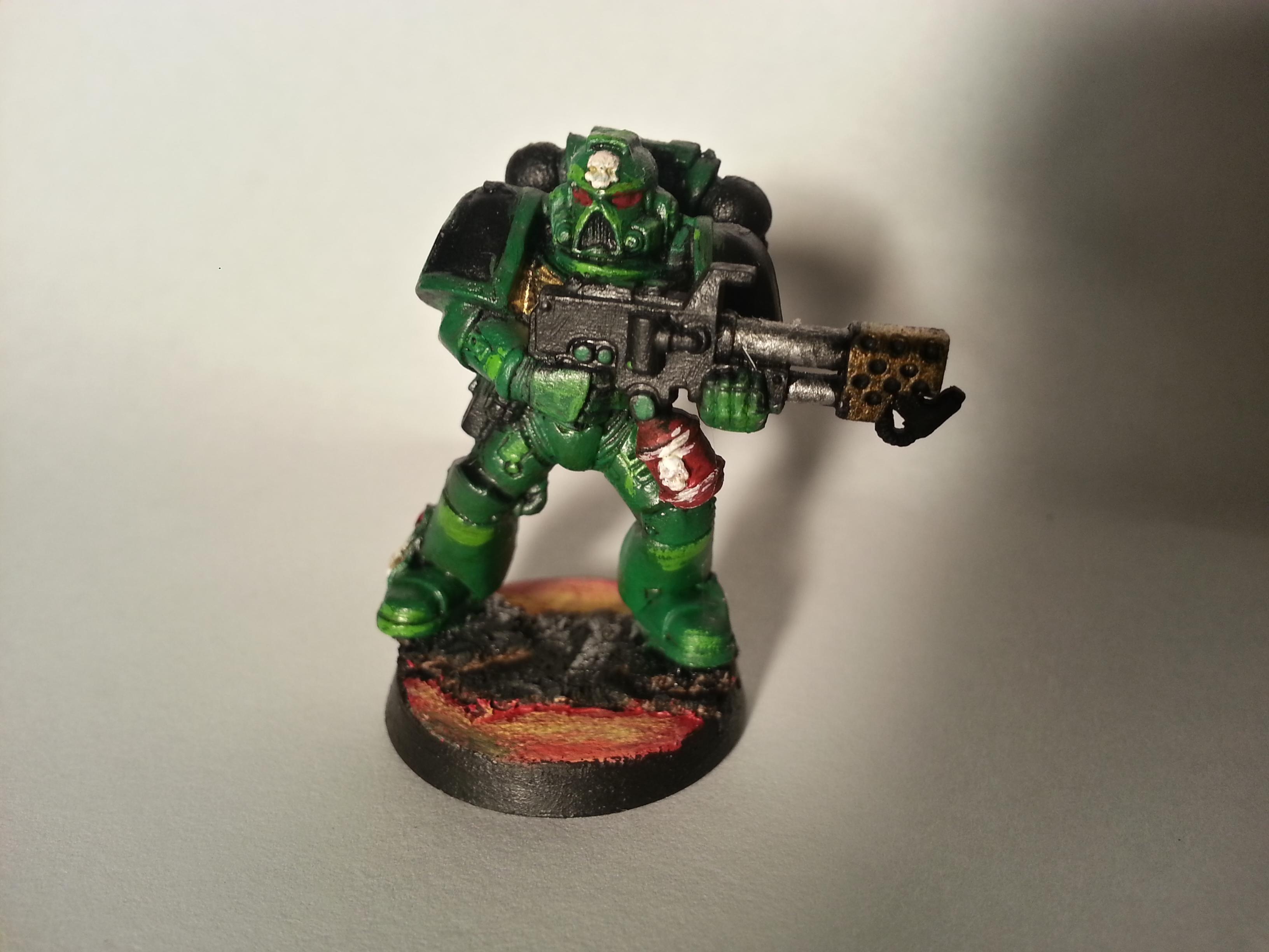 Flamer, Salamanders, Space Marines, Tactical