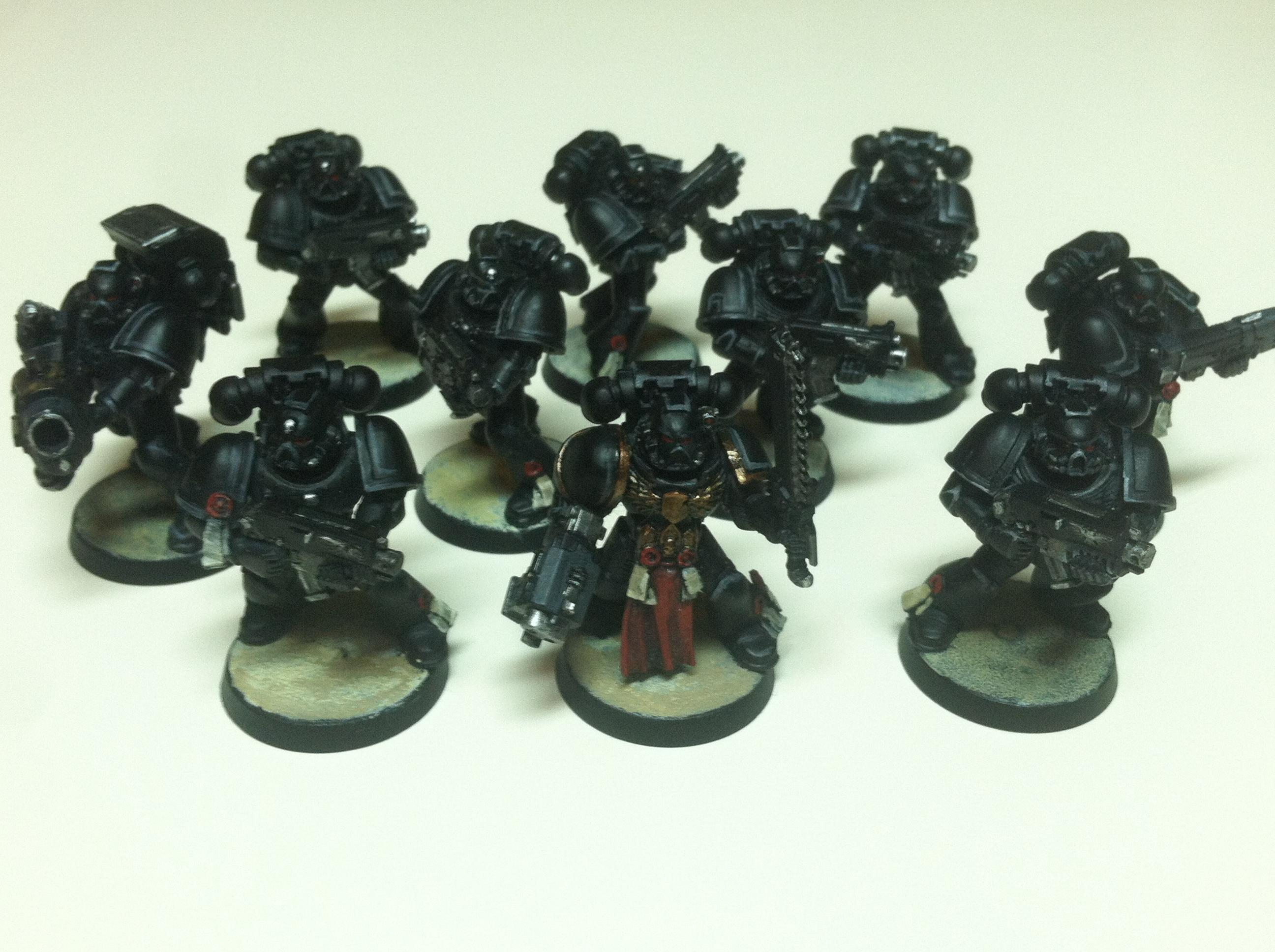 1st Squad, aromor high lights, initial lenses and metal picked out