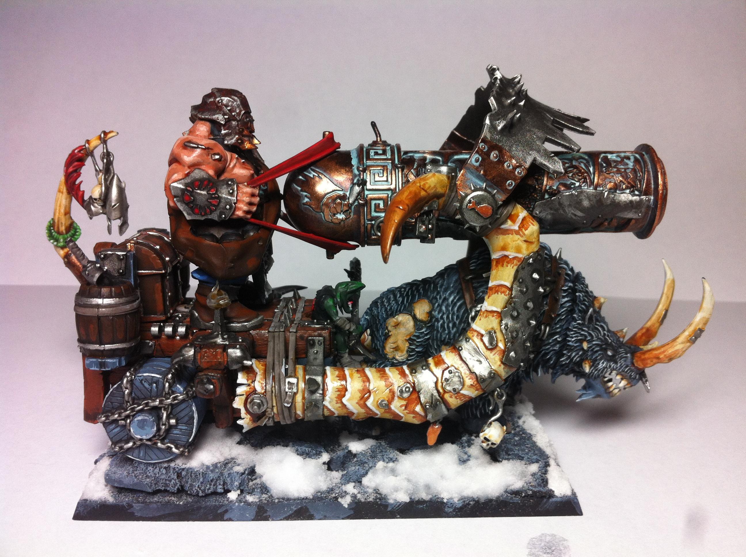 Copper, Ironblaster, Ogre Kingdoms, Ogres, Rusted Effect, Snow