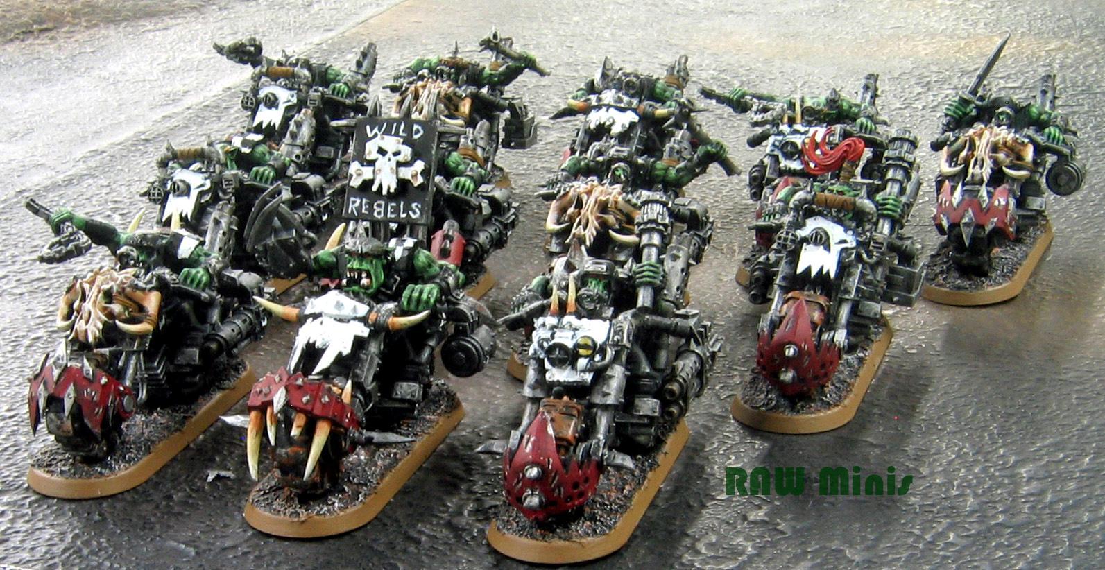 Bike, Orks, Painting, Warbikers, Warhammer 40,000