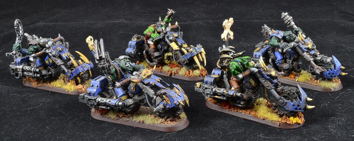 Nob Bikes, Nob Warbike, Orks, Warbikers, Warhammer 40,000