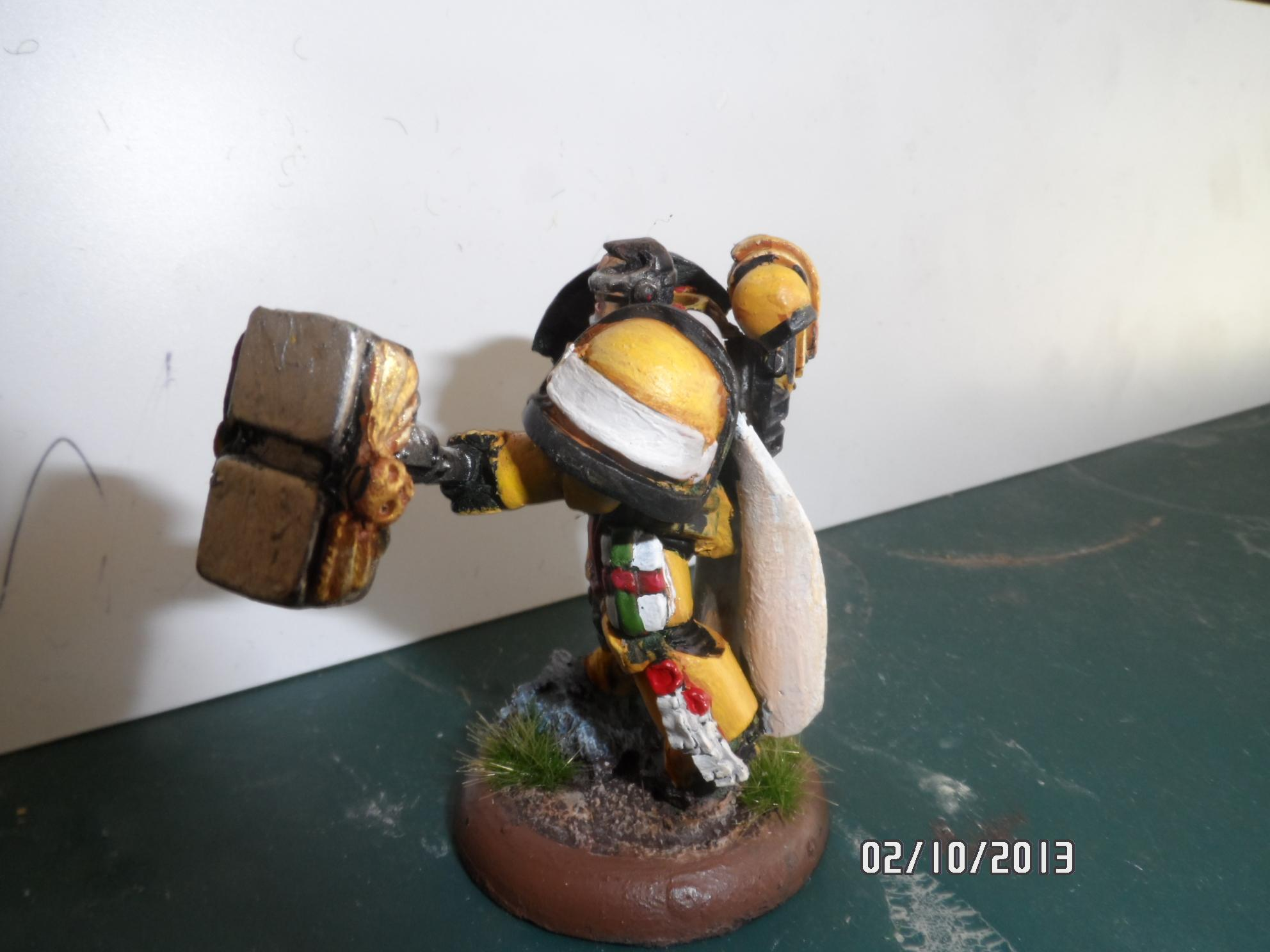 Complete Sculpt, Imperial Fists, Spacemarine, True-scale, Warhammer 40,000