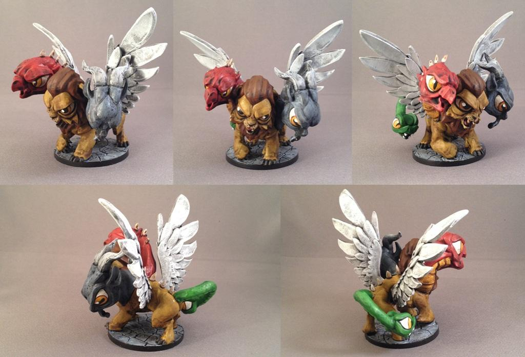 Chibi, Chimera, Dungeon, Impact! Miniatures