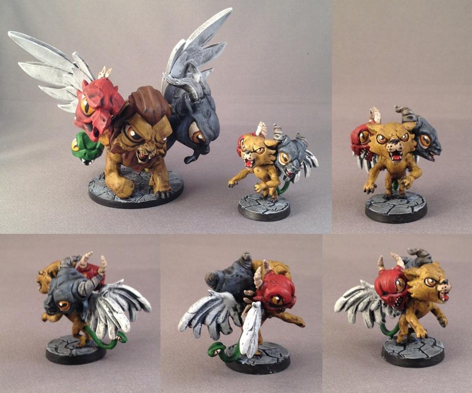 Baby Chimera, Chibi, Dungeon, Impact! Miniatures