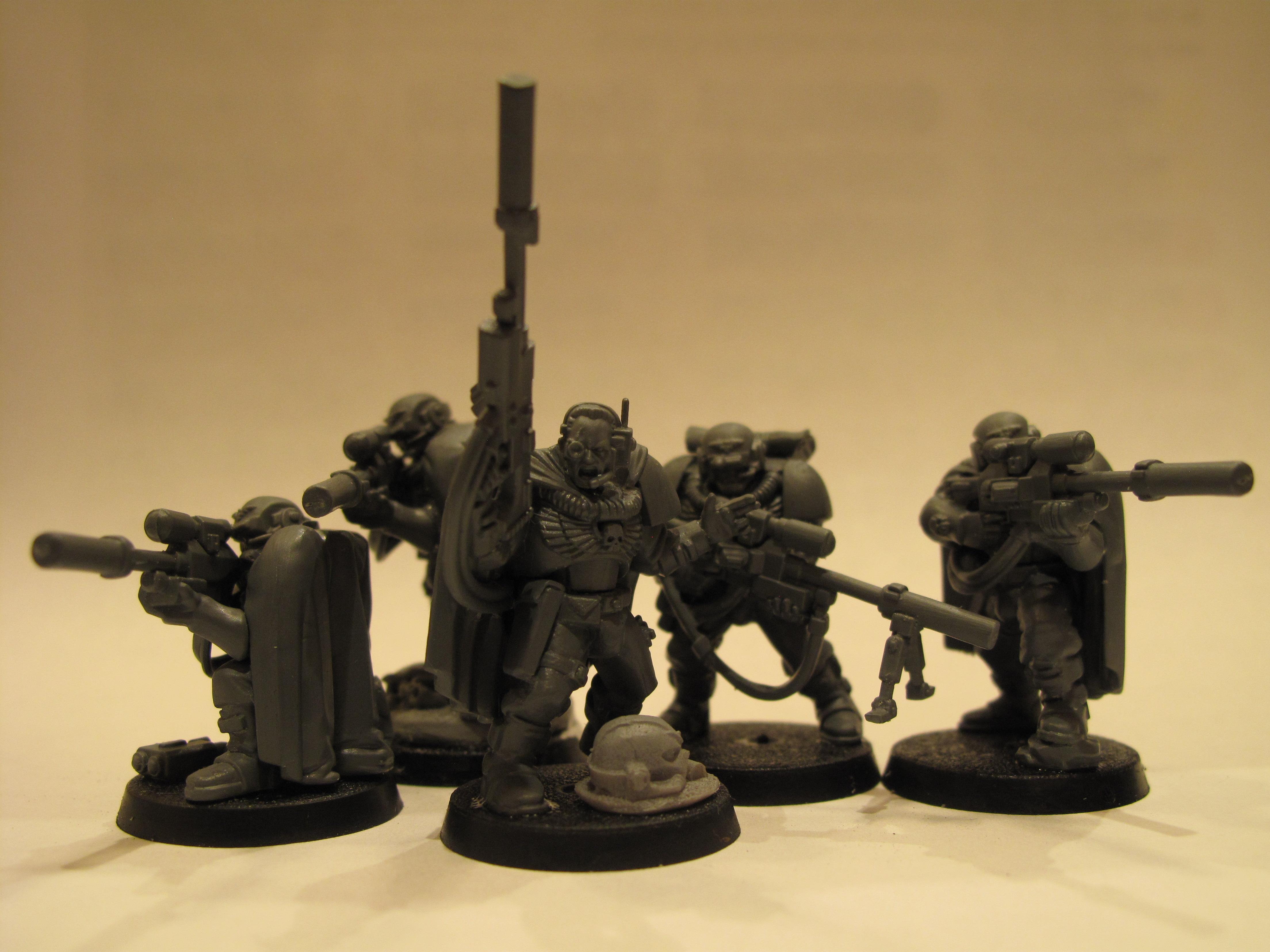 Scouts, Space Marines, Warhammer 40,000, Work In Progress