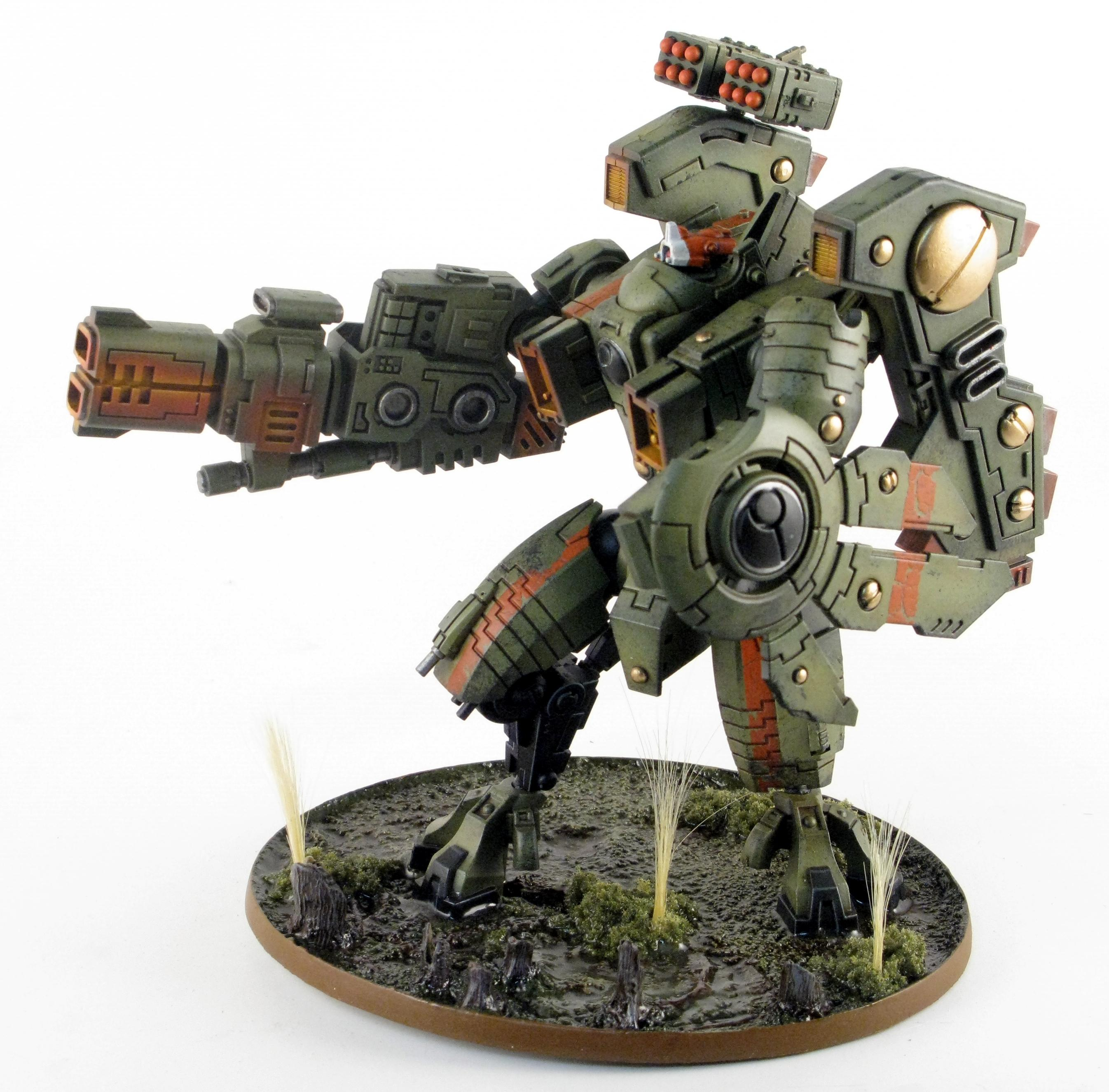 Airbrush, Blasted Wetlands, Brown, Gradient, Green, Gritty, Object Source Lighting, Riptide, Secret Weapon, Swamp, Tau, Weathered, Work In Progress