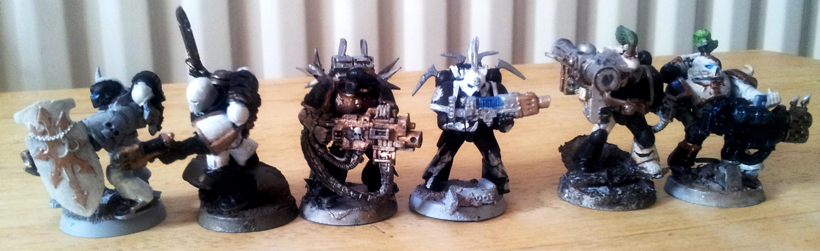 Chaos, Chaos Space Marines, Conversion, Low Budget, Space, Space Marines, Work In Progress