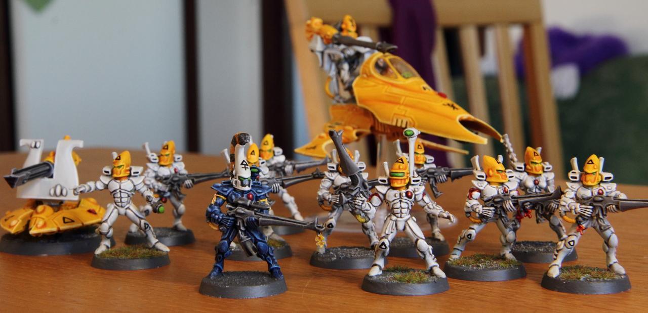 Dire Avengers, Eldar, Guardians, Vyper, White, Yellow