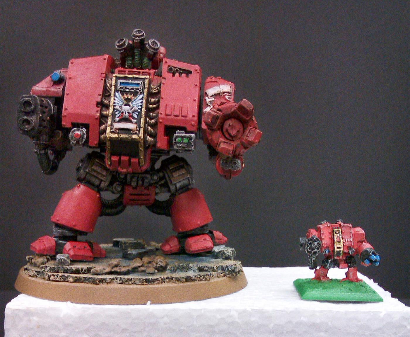 Blood Angels, Dreadnought, Epic, Vehicle, Work In Progress