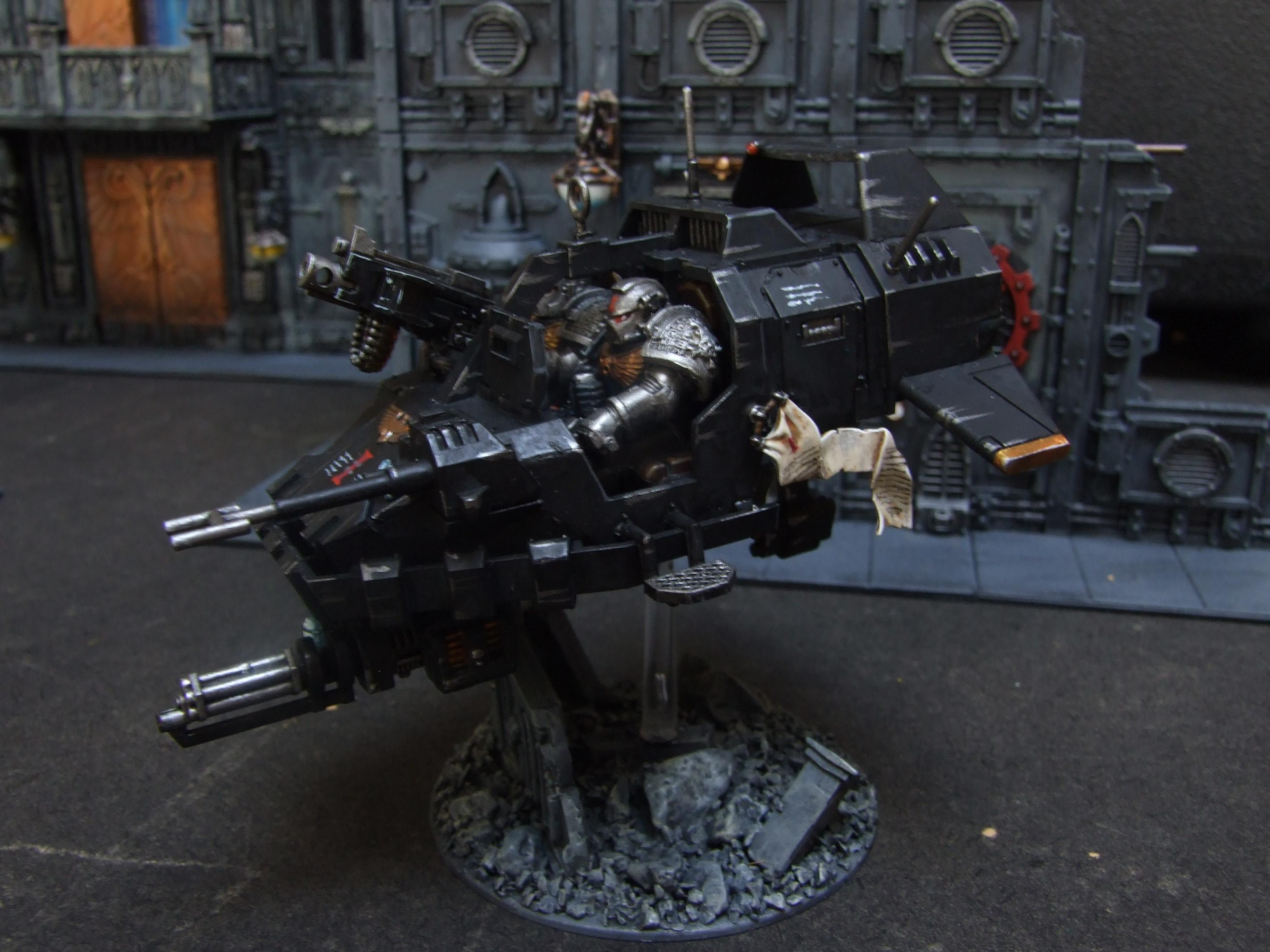 Assualt Cannon, Death Watch, Fast, Heavy Bolter, Lanspeeder, Skimmer, Space Marines, Warhammer 40,000