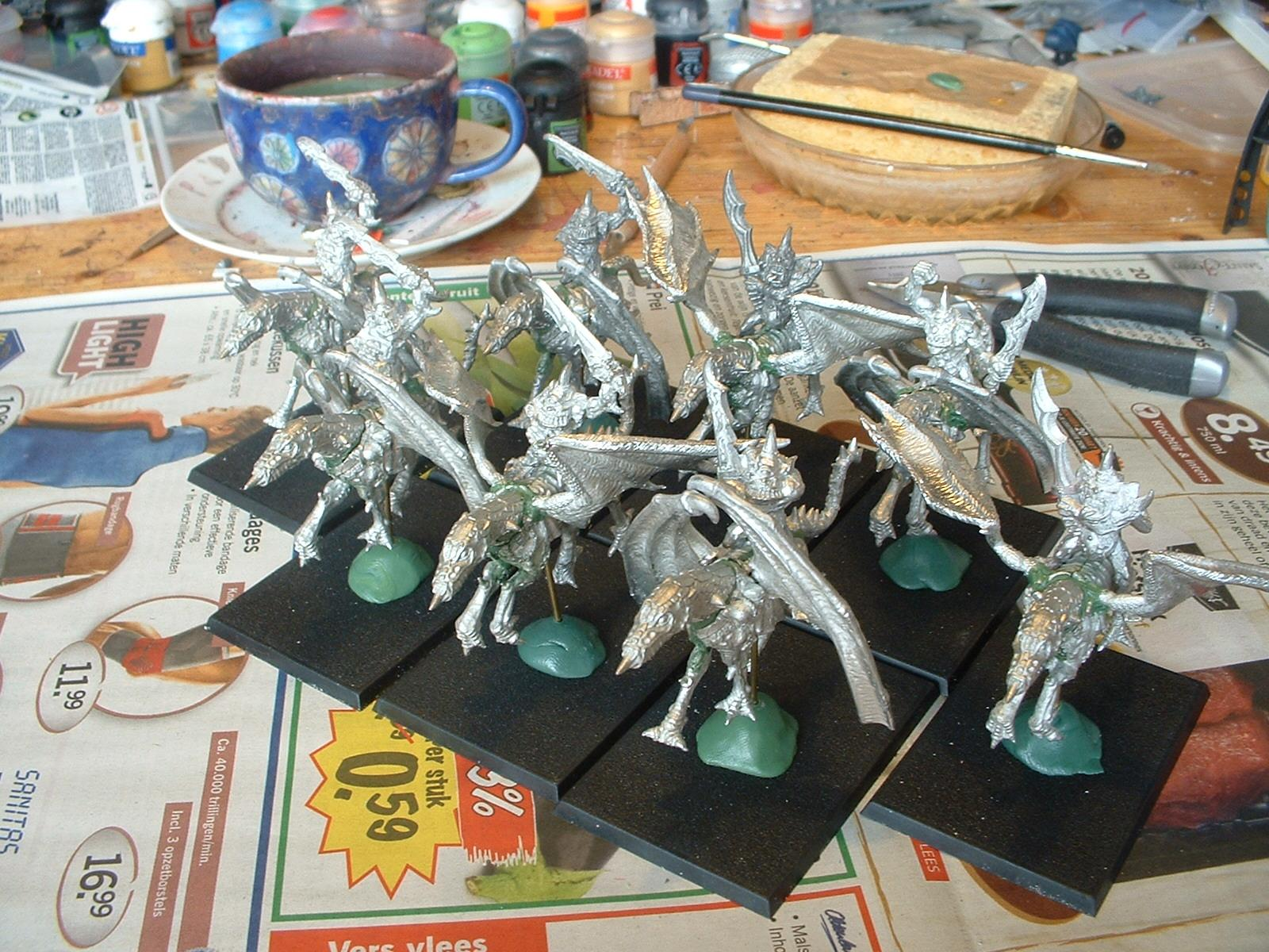 Chaos, Daemons, Nurgle, Plague Drones, Work In Progress