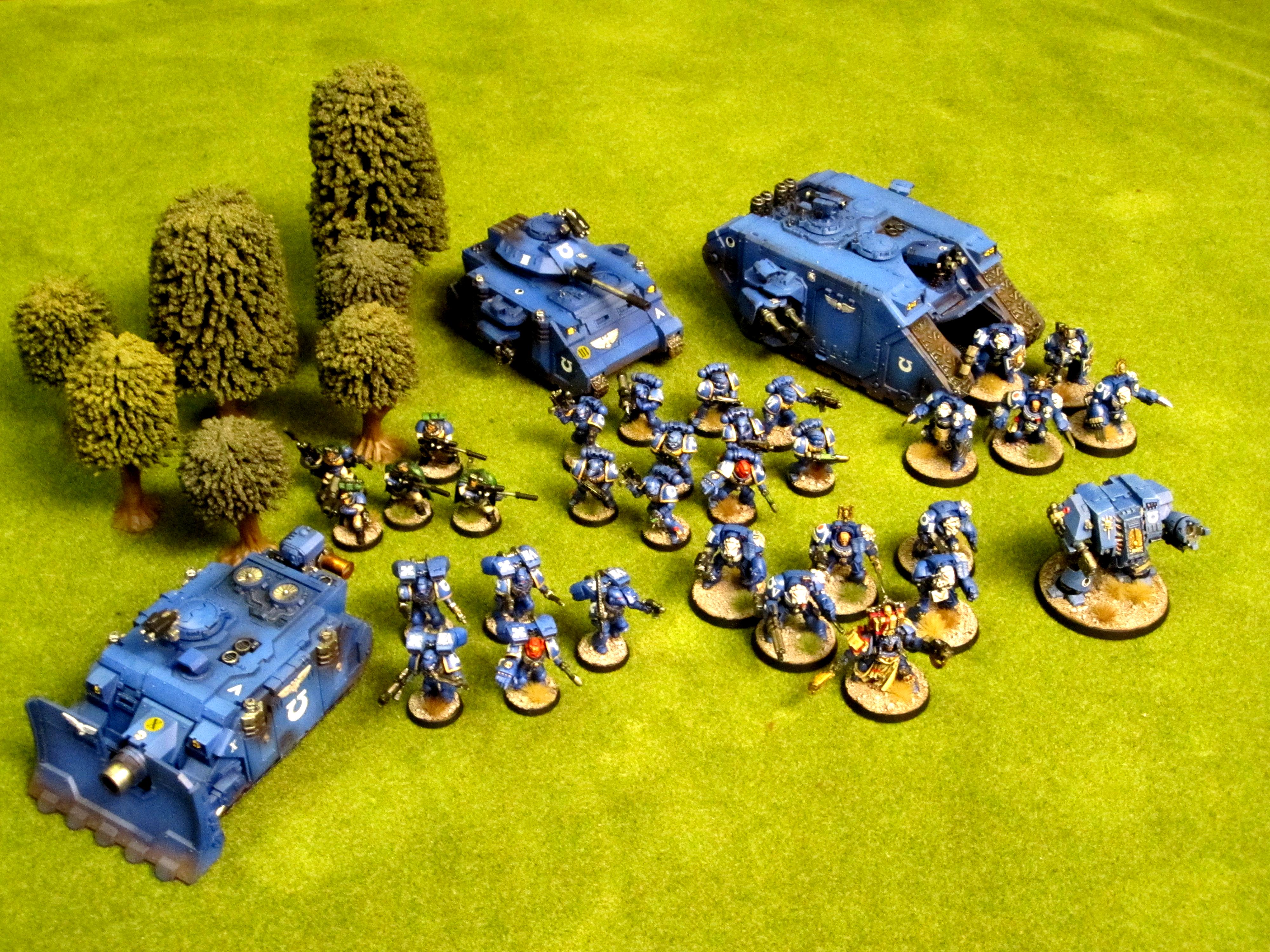 Assault, Commission, Dreadnought, Elites, Fast Attack, Heavy Support, Land Raider, Predator, Pro Painted, Scouts, Space Marines, Tactical, Terminator Armor, Troops, Vindicator, Warhammer 40,000