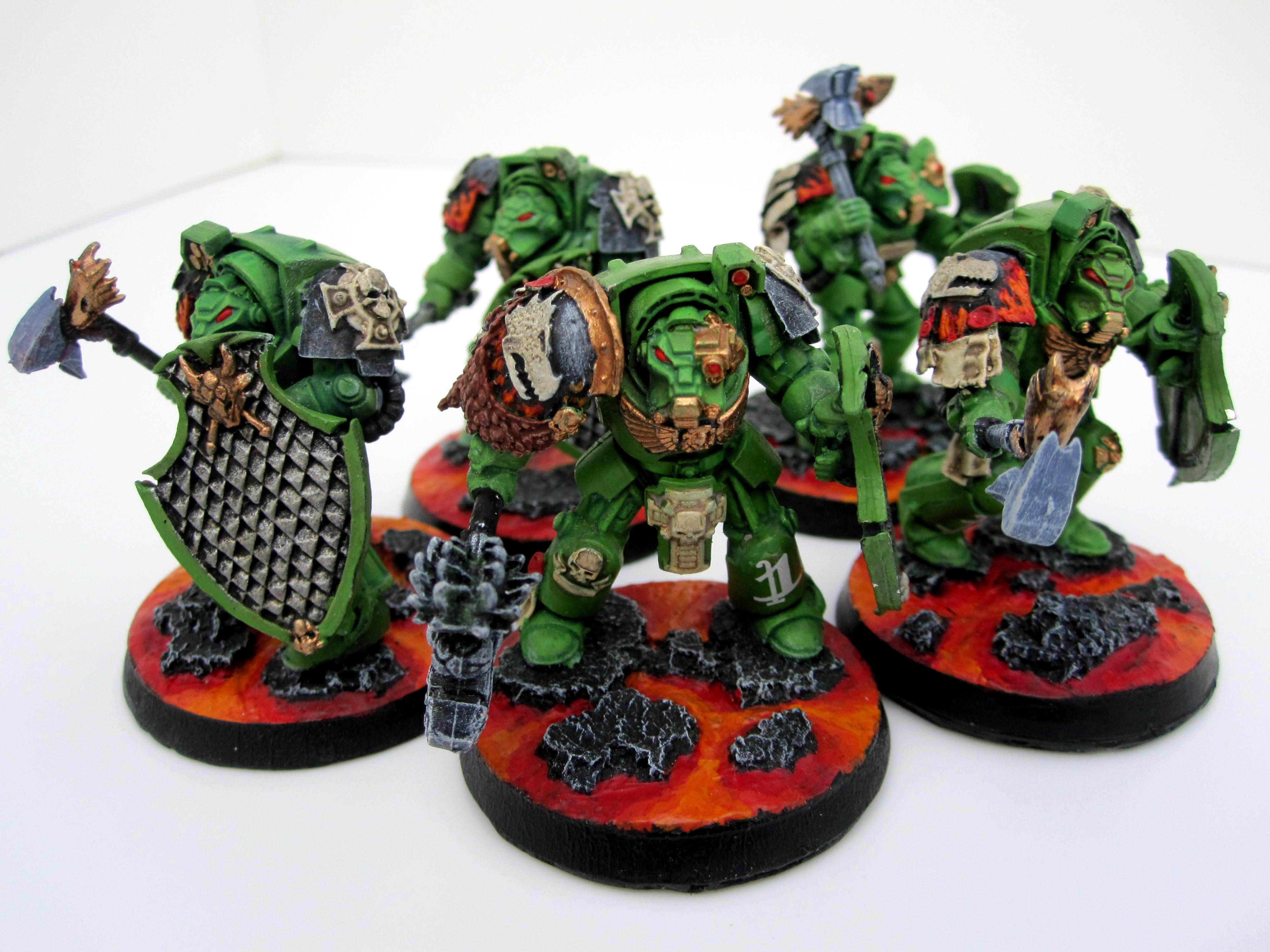 Conversion, Salamanders, Storm Shields, Terminator Armor, Thunder Hammers