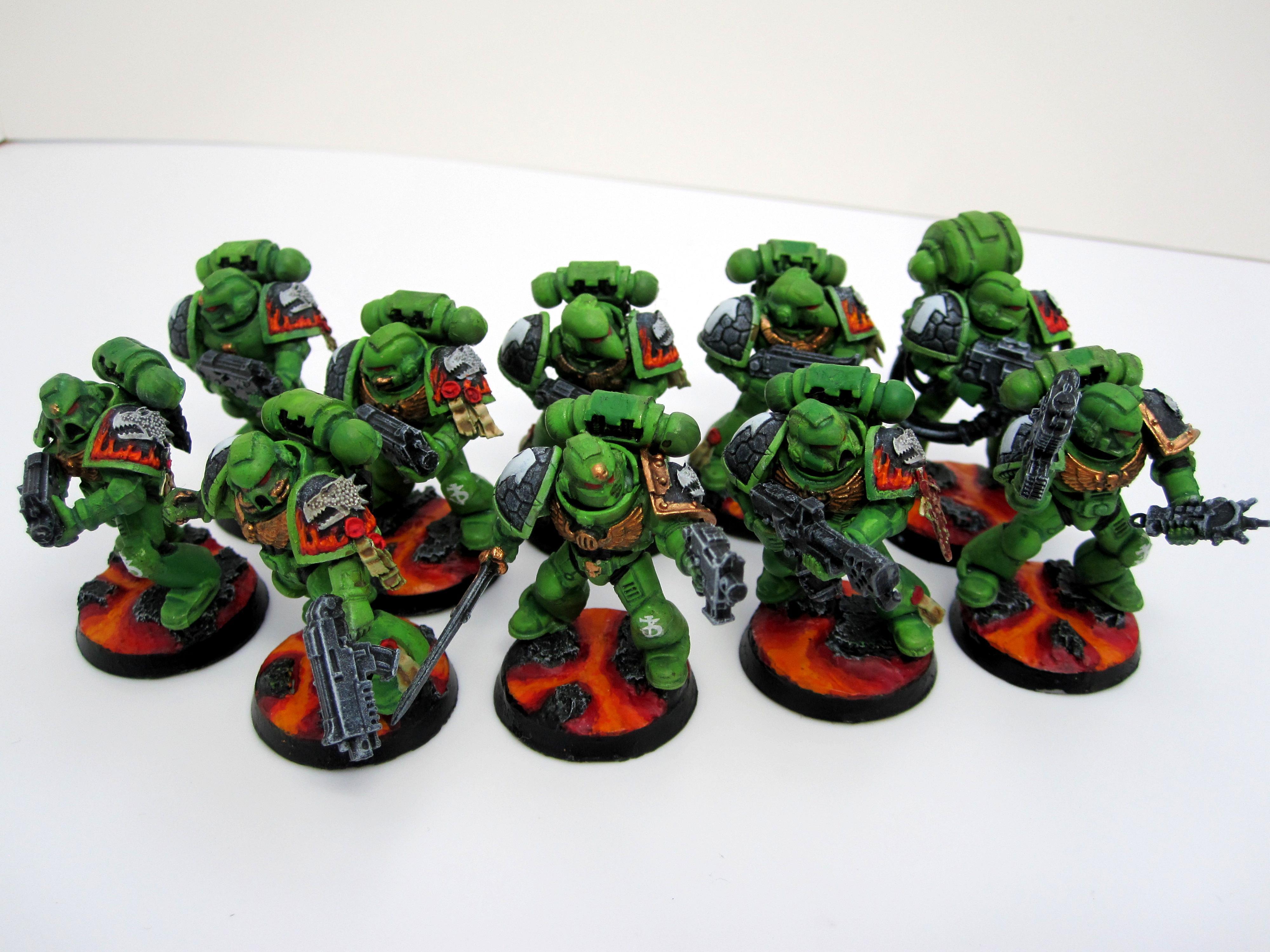 Lava, Salamanders, Tactical, Troops