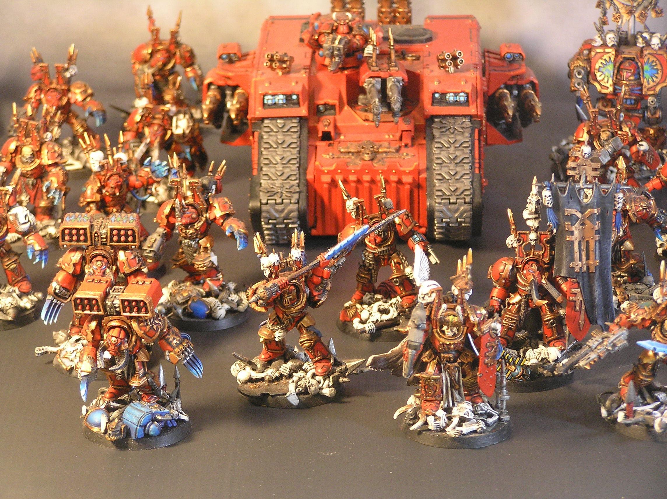 Chaos Space Marines, Chaos Terminators, Deathwing, Khorne Berserkers, Terminator Armor, World Eaters