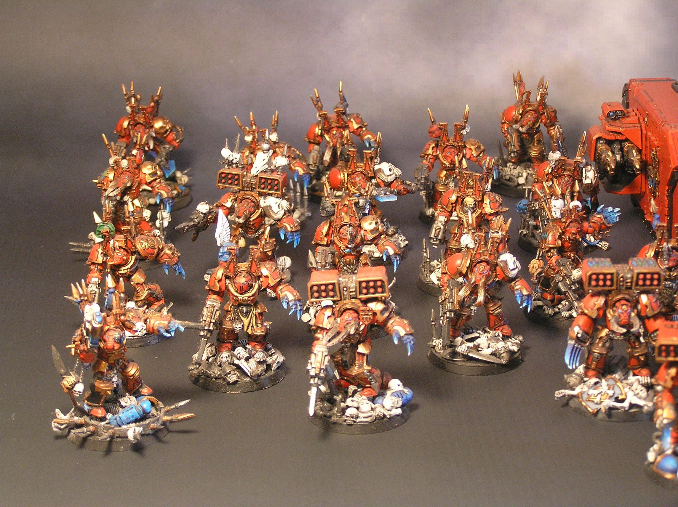 Chaos Space Marines, Chaos Terminators, Deathwing, Khorne Berserkers, Missile Launcher, Terminator Armor, Warhammer 40,000, World Eaters