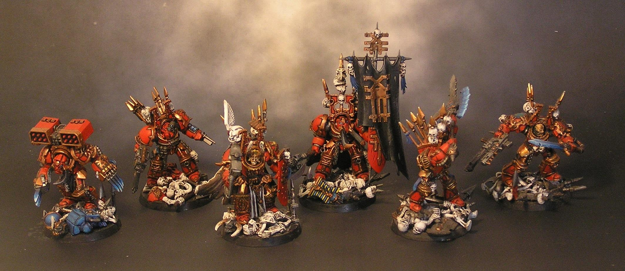 Banner, Chaos Space Marines, Khorne, Khorne Berserkers, Lightning Claws, Standard Bearer, Terminator Armor, Warhammer 40,000