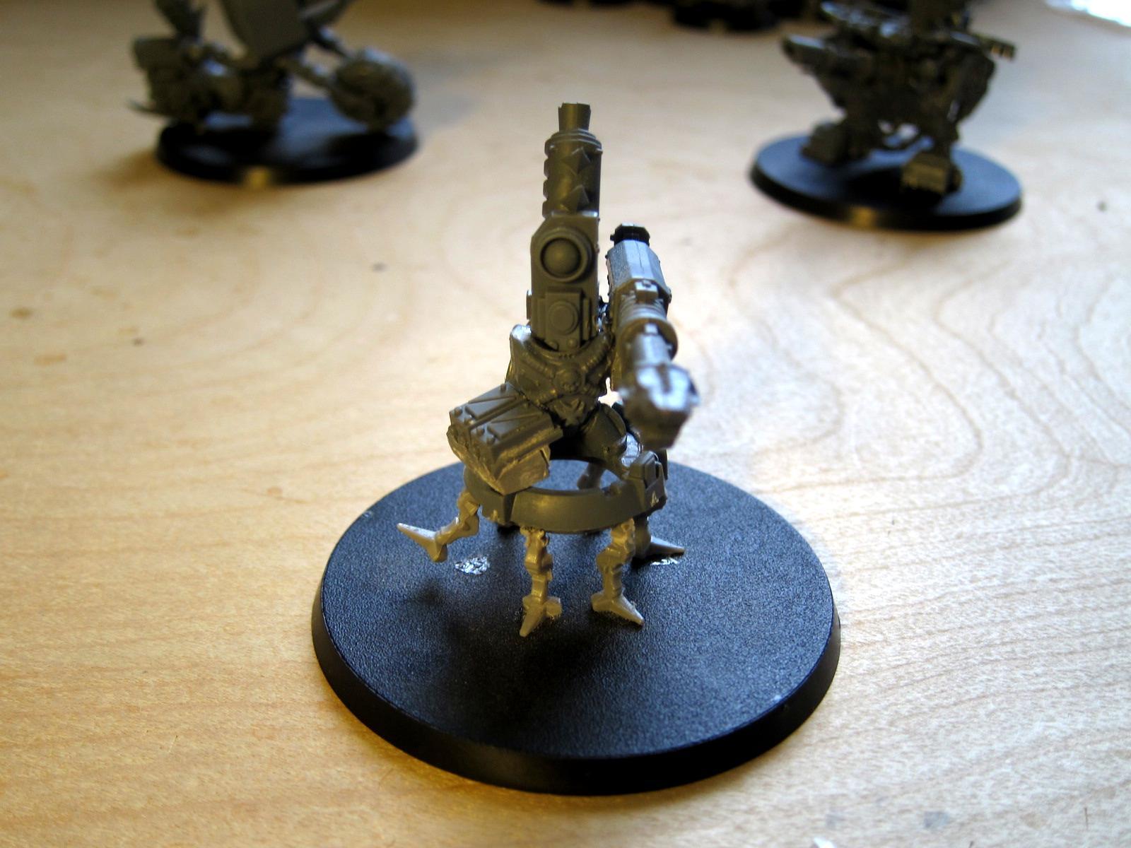 Adeptus Mechanicus, Conversion, Heavy Weapons Team, Imperial Guard, Las Cannons, Skitarii