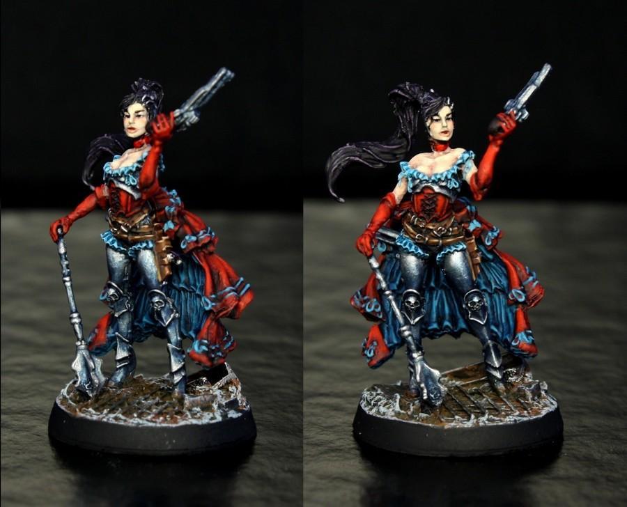 Alicia, Contest, Female, Graphigaut, Inquisitor, Lady, Nerdfest, Red, Turquoise, Von Gaut, Warforge
