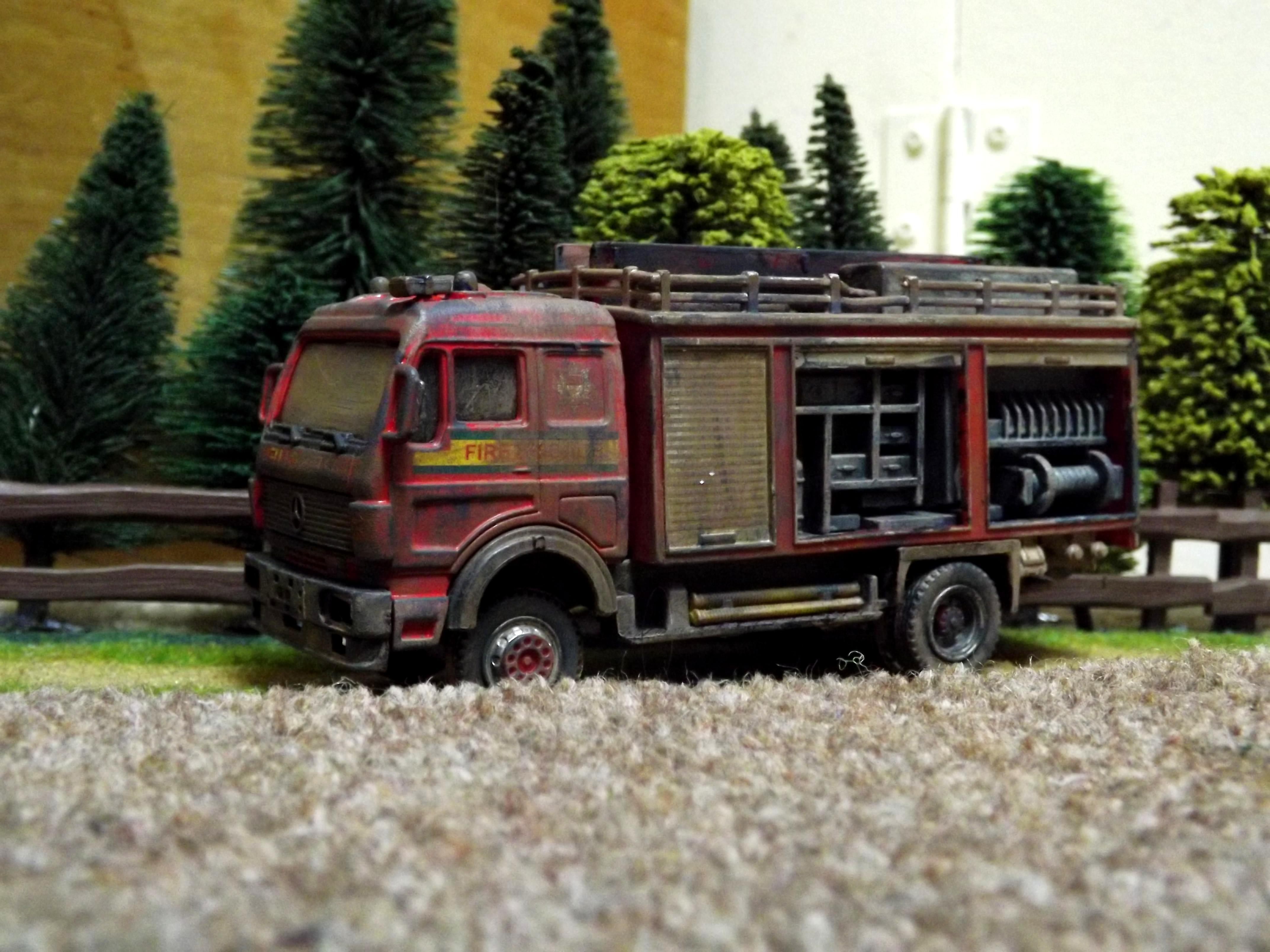 Civilian, Fire Engine, Lorry, Post Apocalypse, Truck, Vehicle