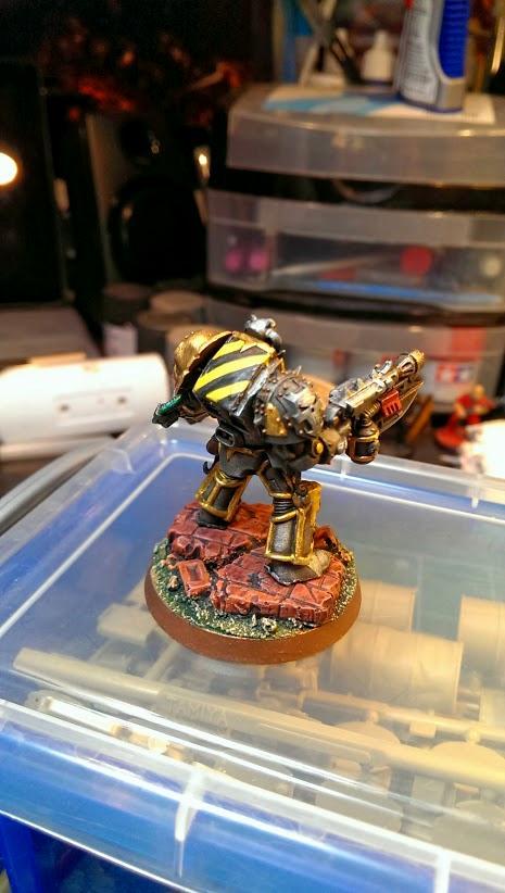 Chaos Space Marines, Hazard Stripes, Iron Warriors, Terminator Armor