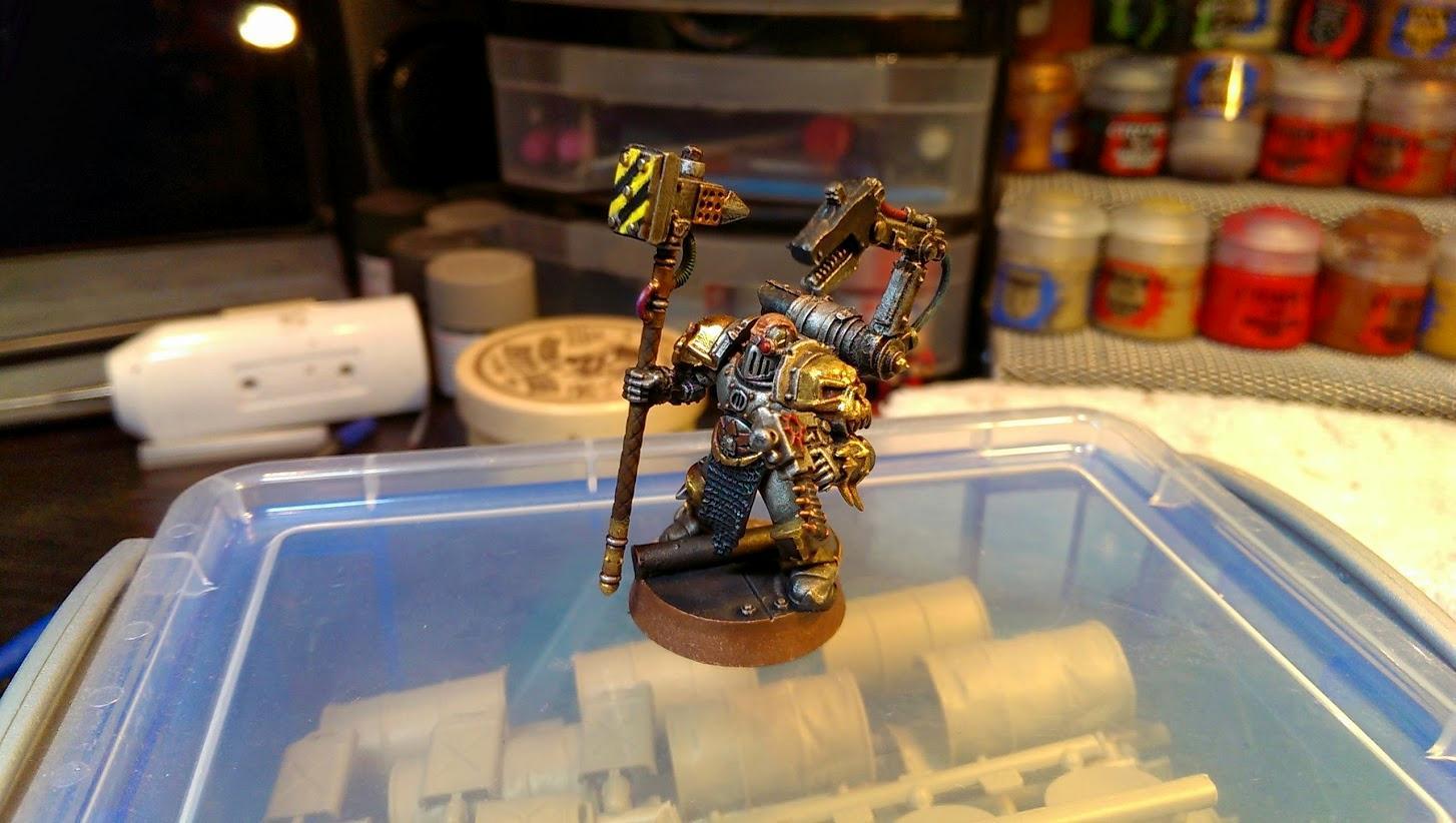Champion, Chaos Space Marines, Iron Warriors, Power Maul