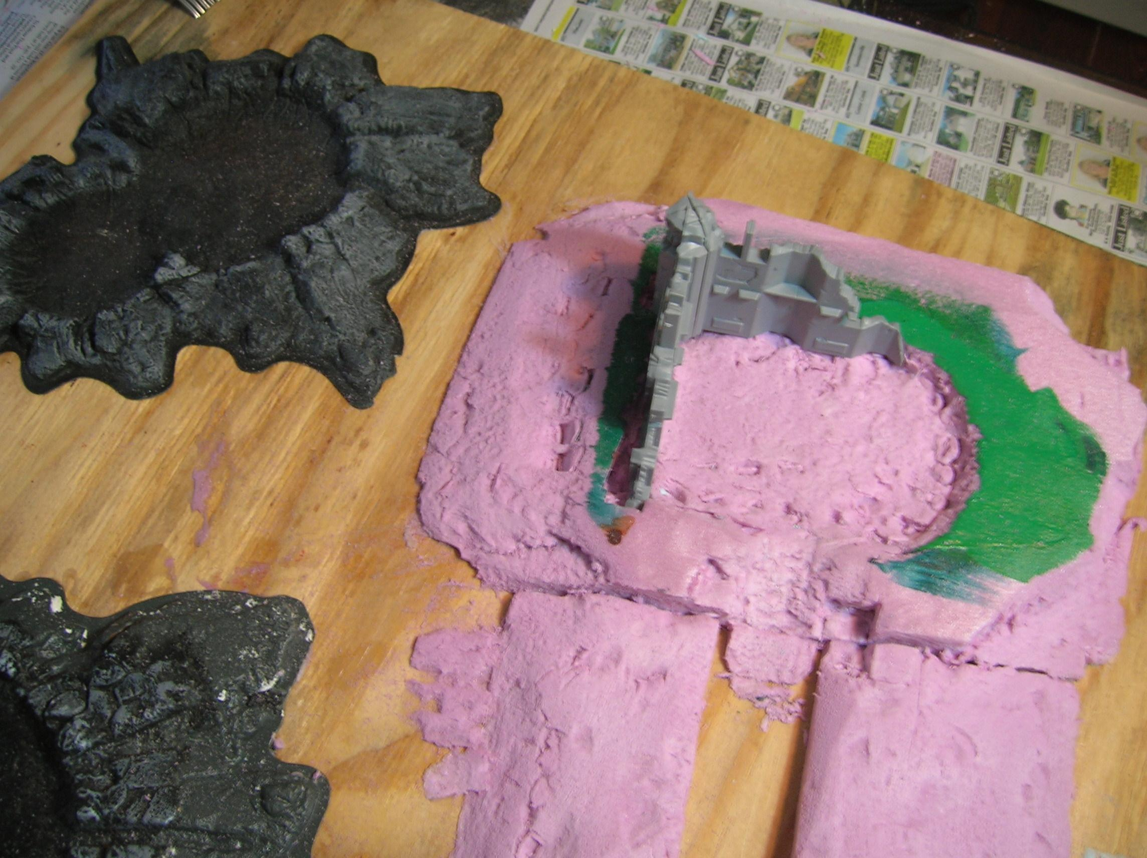 sand edges of foam down to make gradual inclines