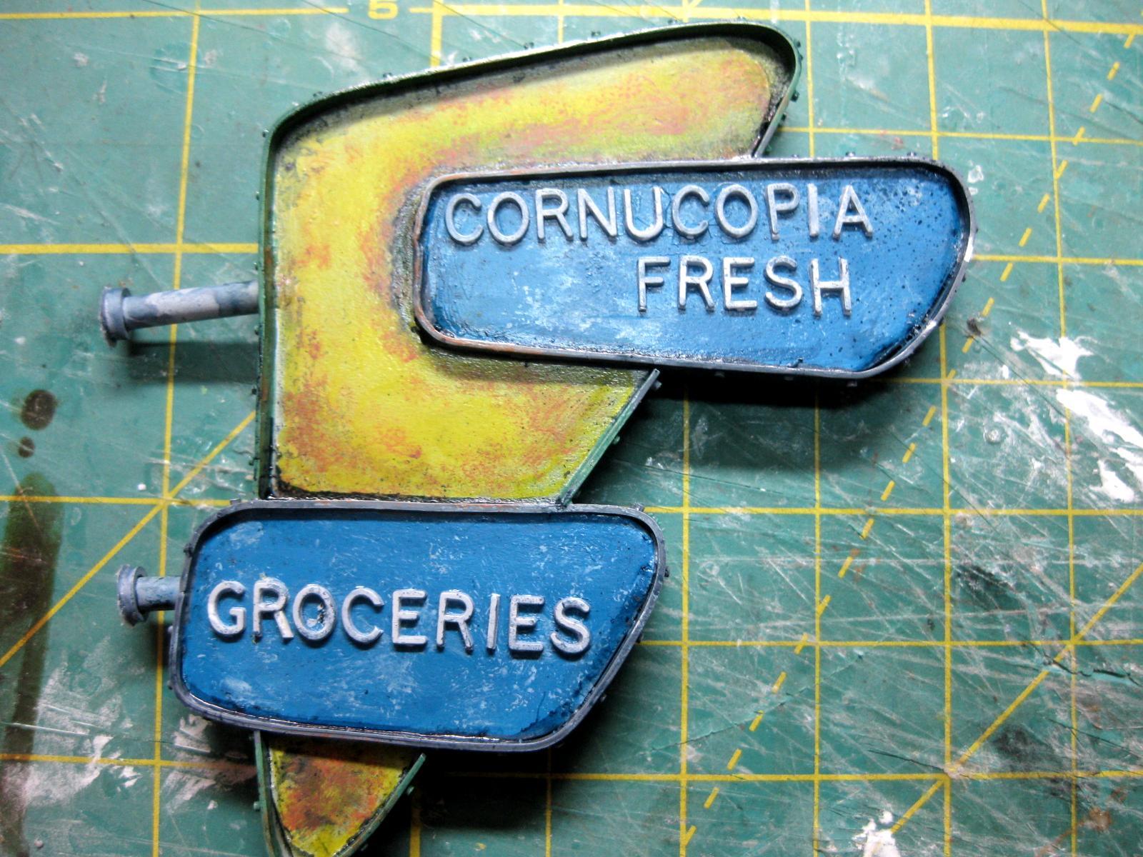 Cornucopia, Fallout, Fresh, Groceries, Sign, Work In Progress