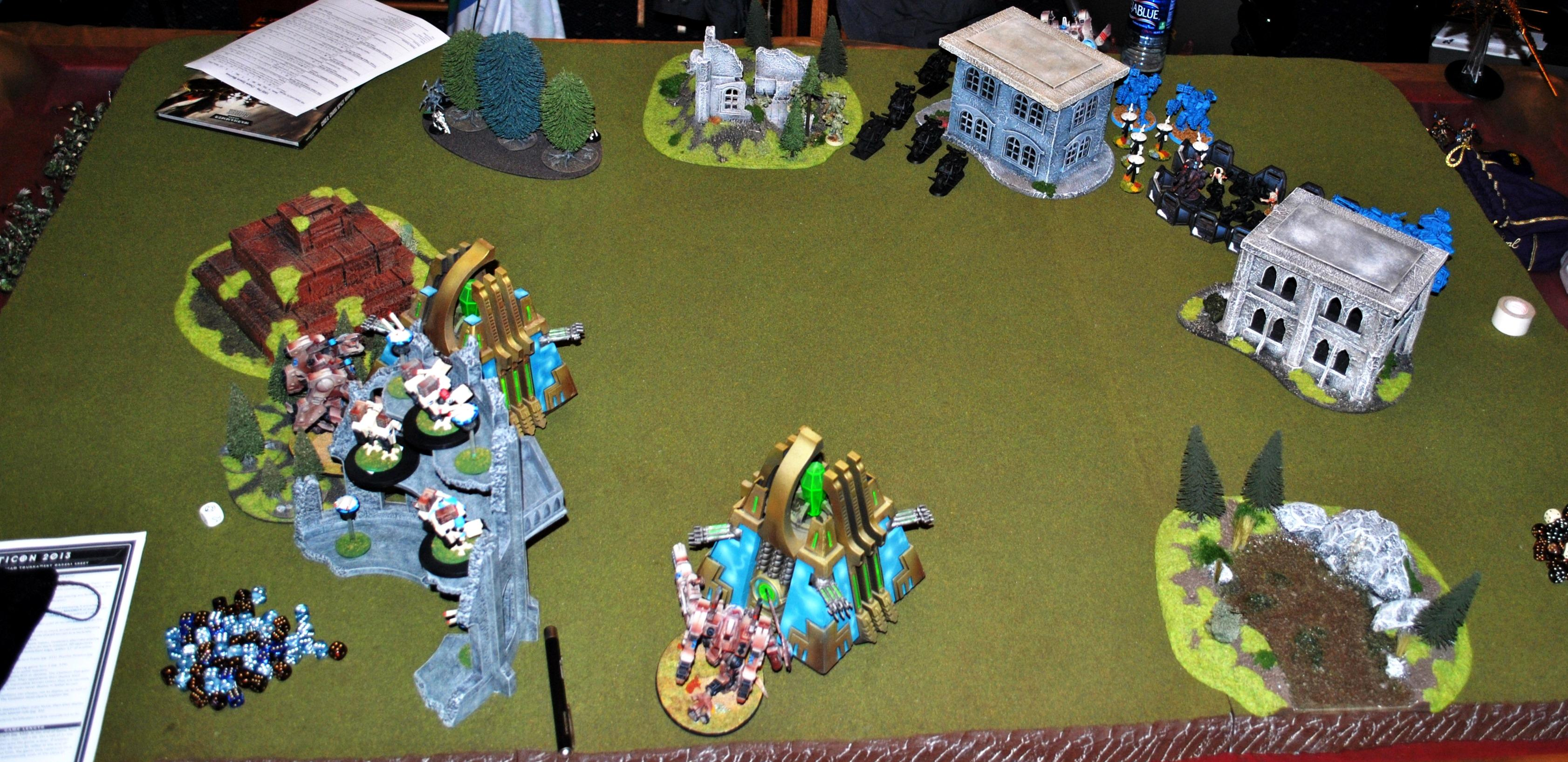 Battle Report, Chaos Space Marines, Necrons, Tau